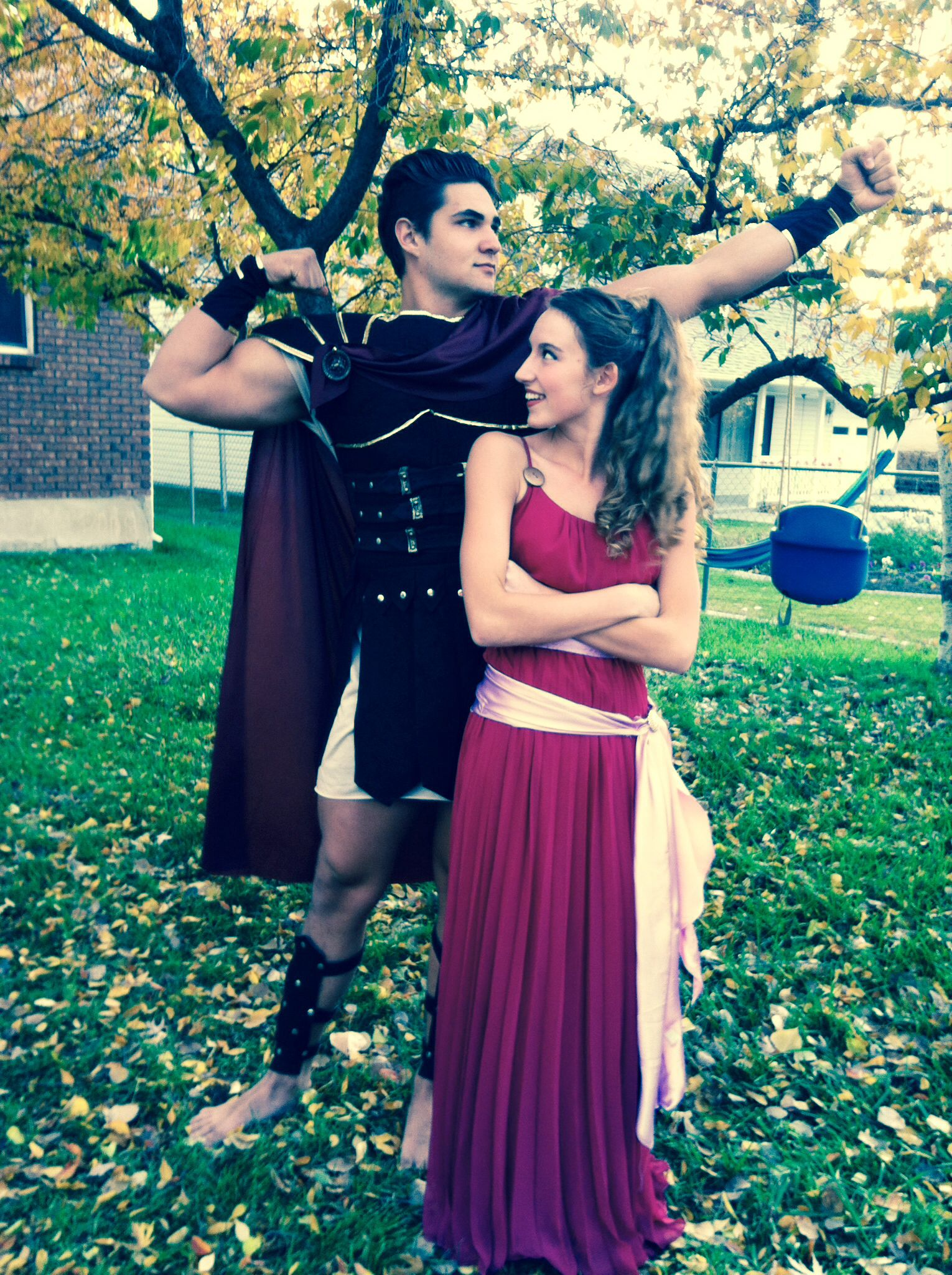 Meg and Hercules disney halloween Disney Pinterest