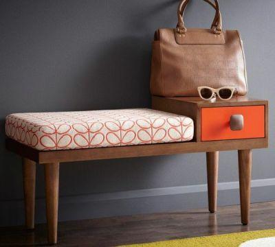 flur möbel praktisch funktional modern bank mit schubladen | flur
