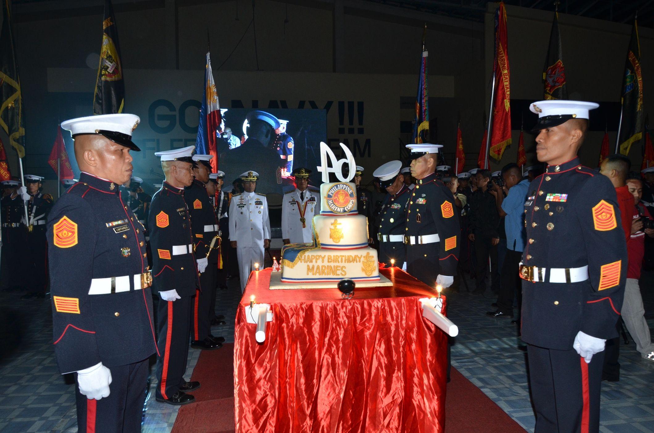 64th Marine Birthday Cake Philippine Marine Corps