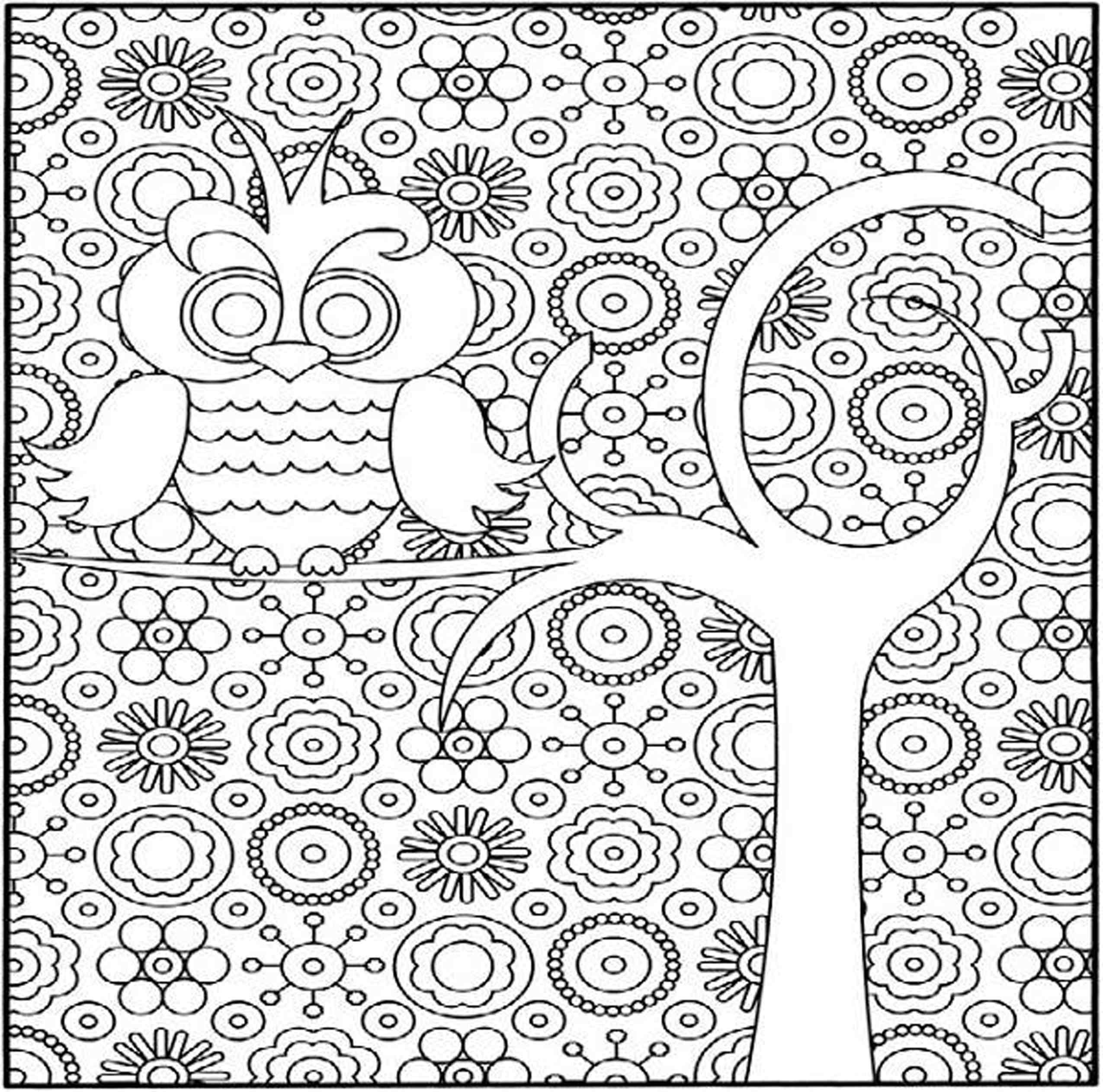 Free Coloring Pages Of Difficult Patterns