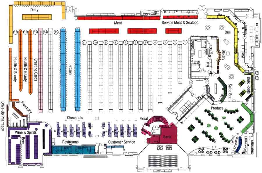 Whole Foods Floor Plan Google Search Deli And Demo