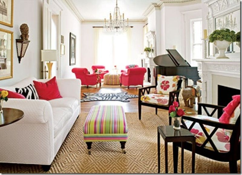 Living Room Ideas : Cheerful Furniture Arrangement For