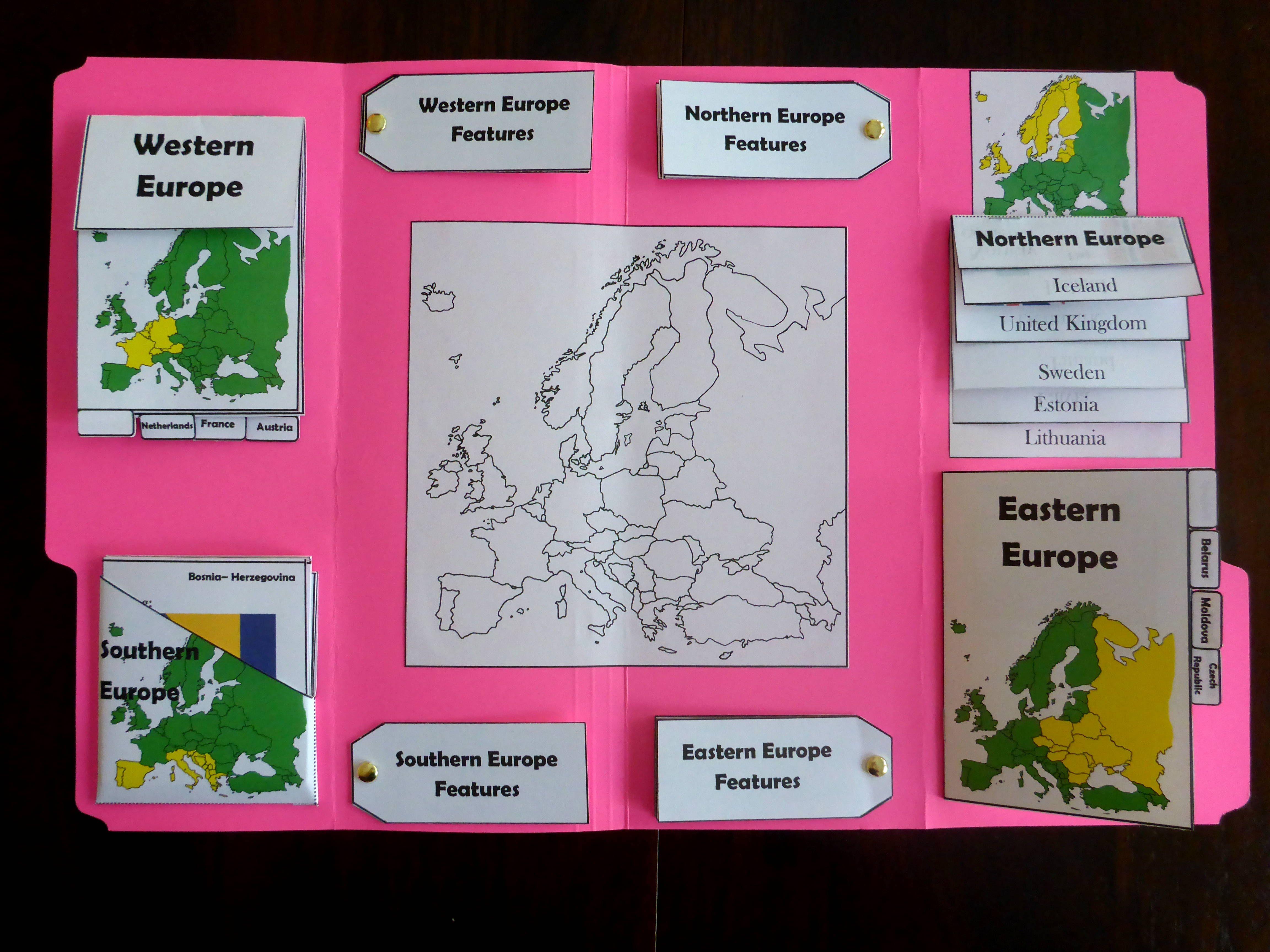 Year 2 Geography Europe Lapbook