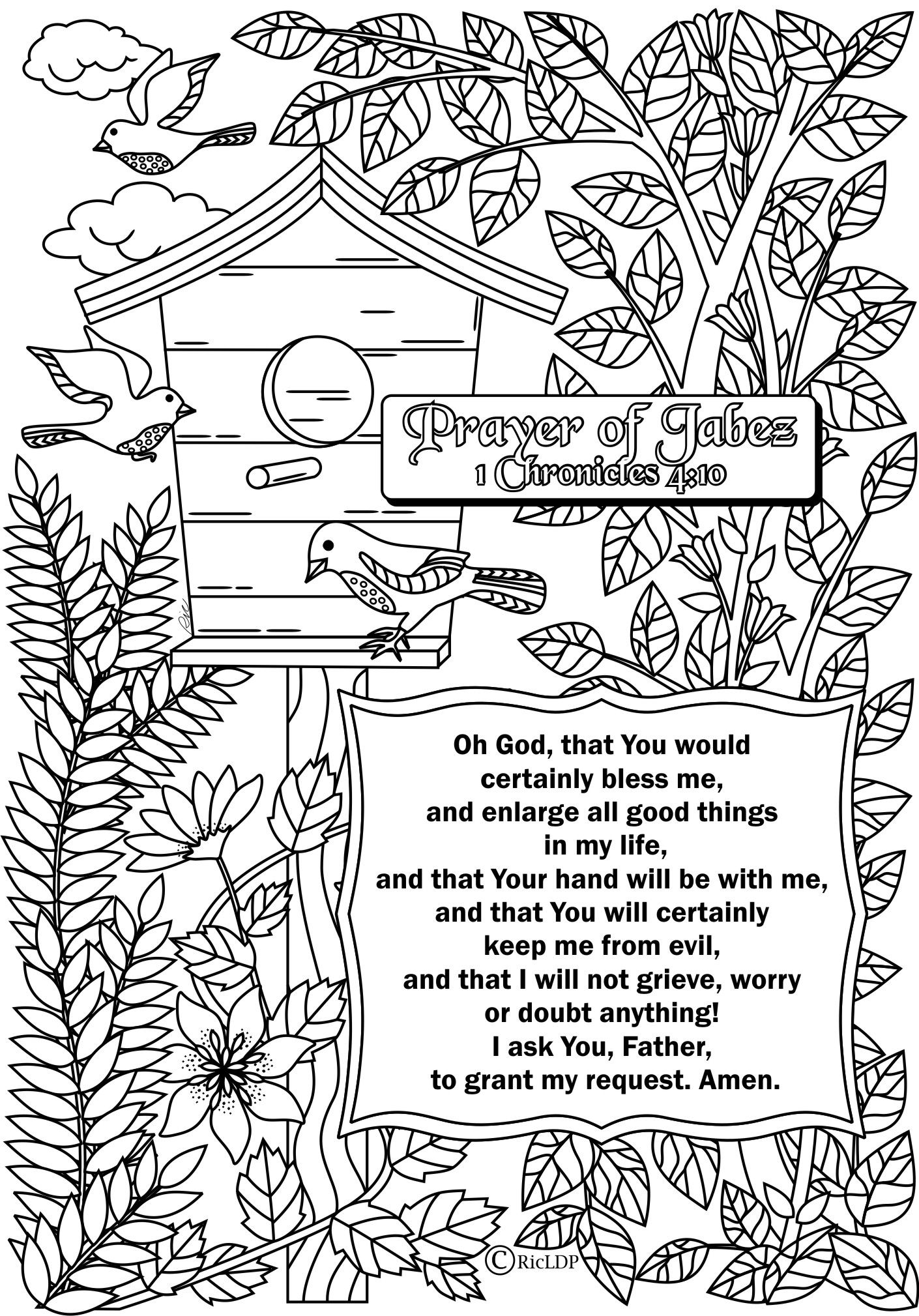 15 Printable Bible Verse Coloring Pages