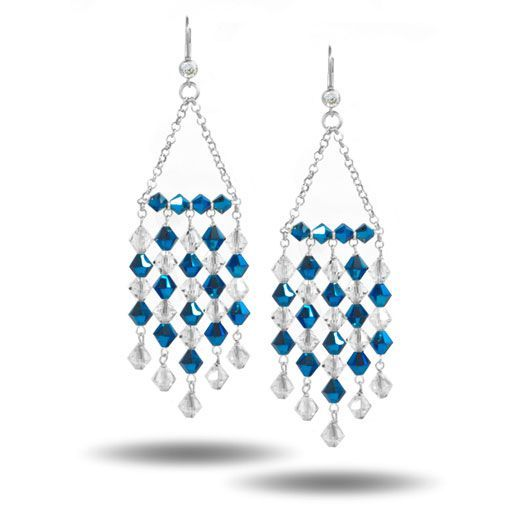 beading design ideas how to create swarovski chandelier earrings - Earring Design Ideas