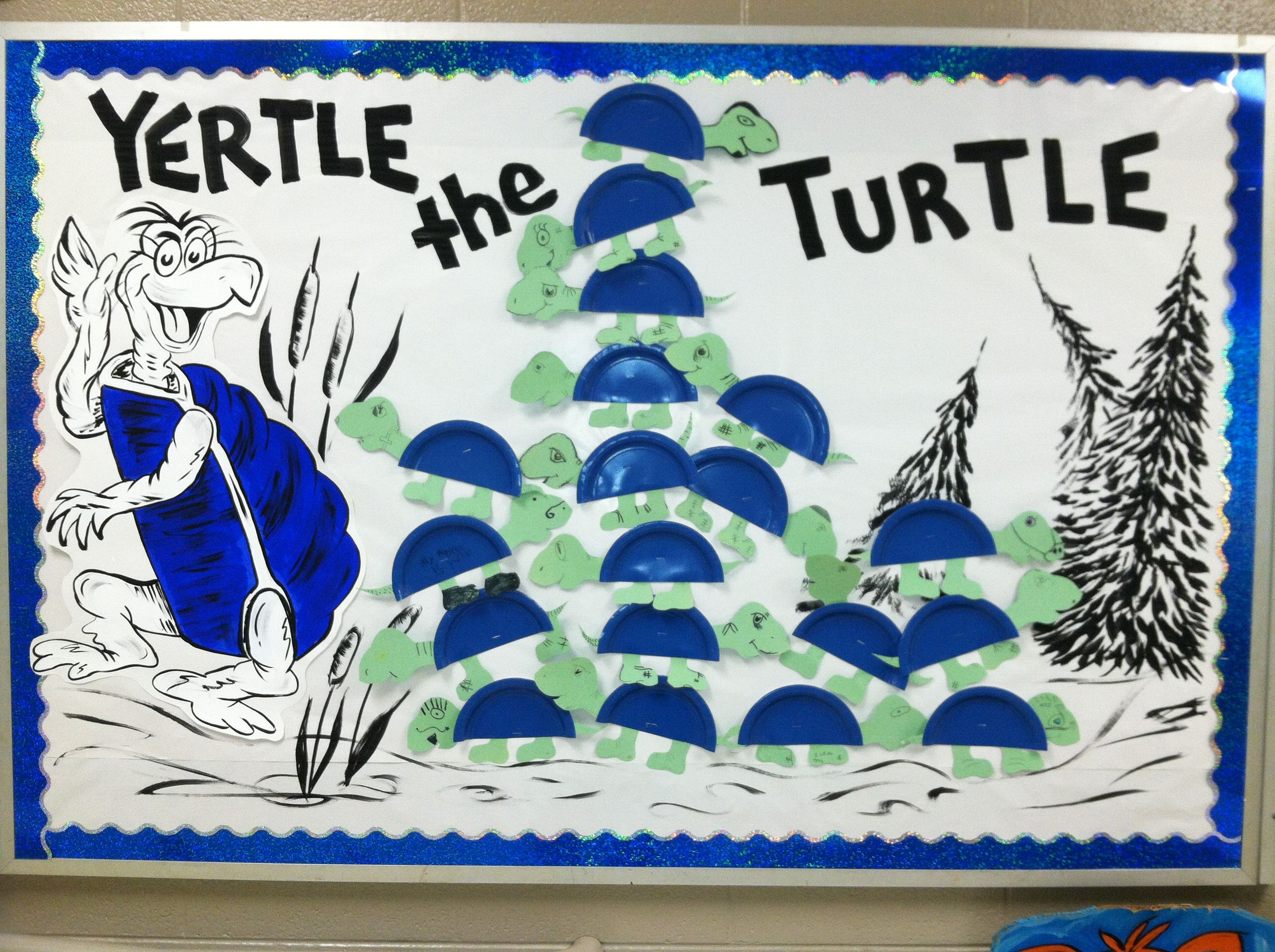 School Bulletin Board Dr Seuss Week Yertle Turtle