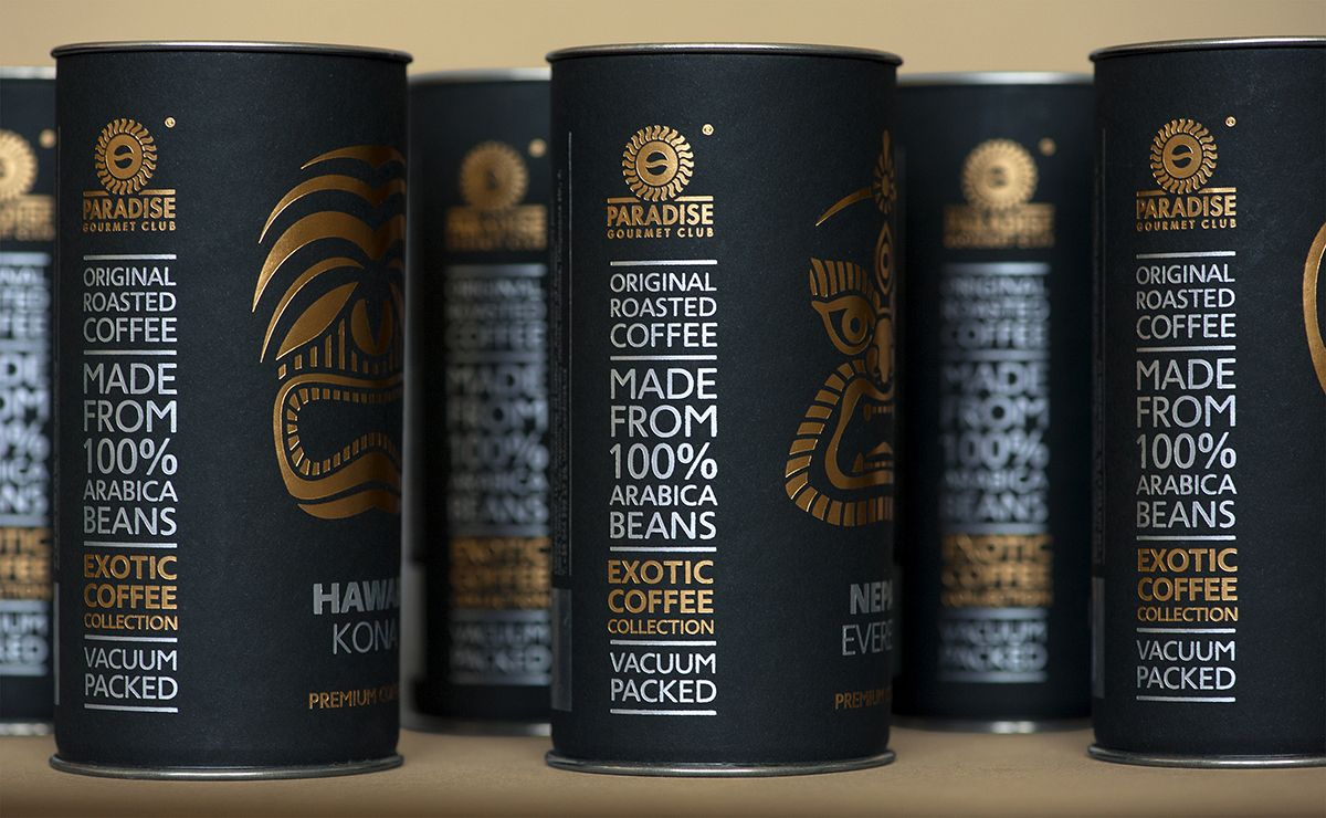 Exotic coffee collection by Paradise.