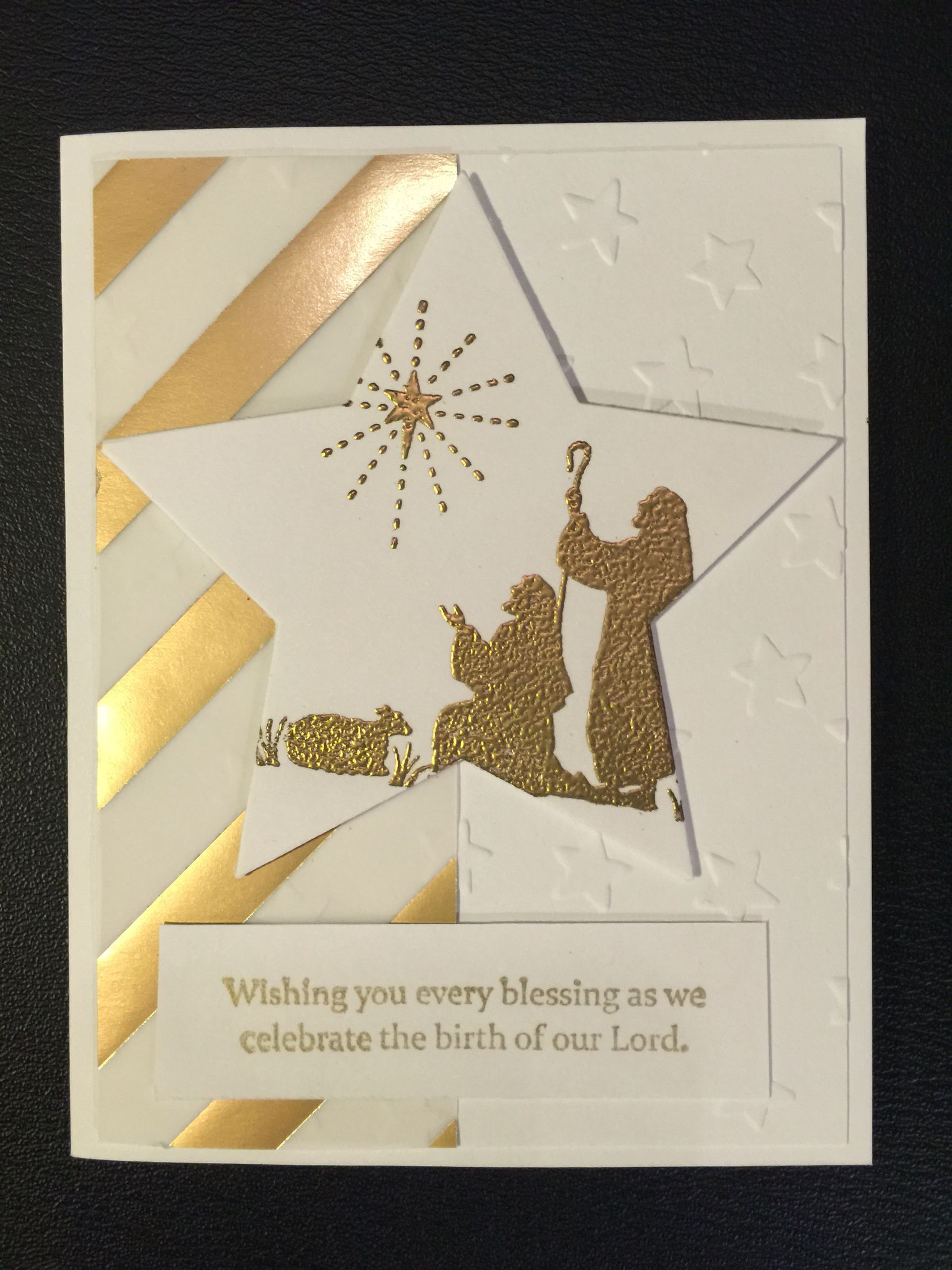 Every Blessing Gold Embossed Cards Religious Christmas