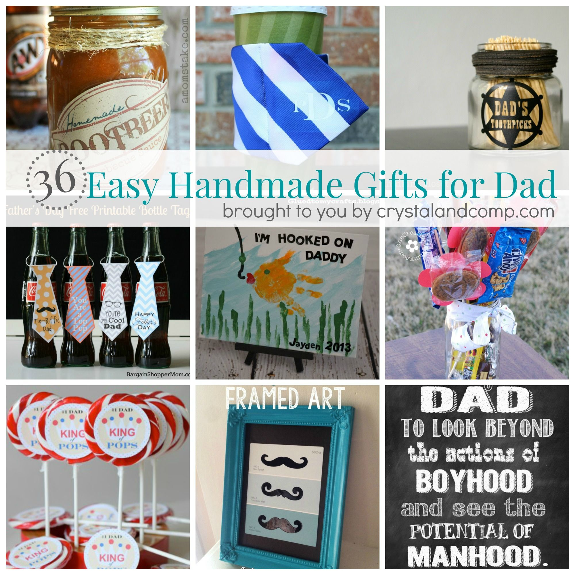 36 Easy Handmade Gift Ideas for Dad Easy homemade gifts