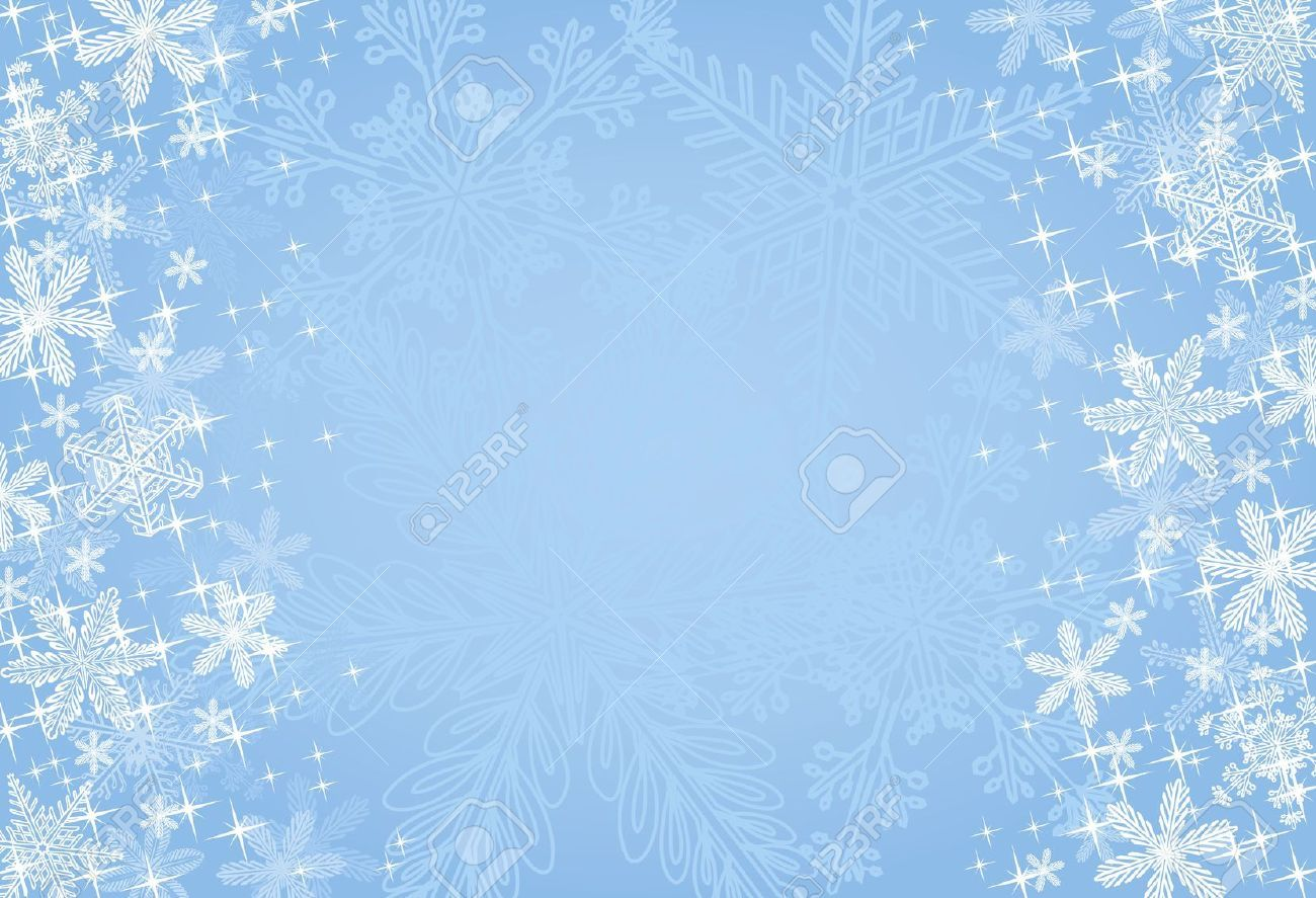 Blue Winter Or Christmas Background Royalty Free Cliparts