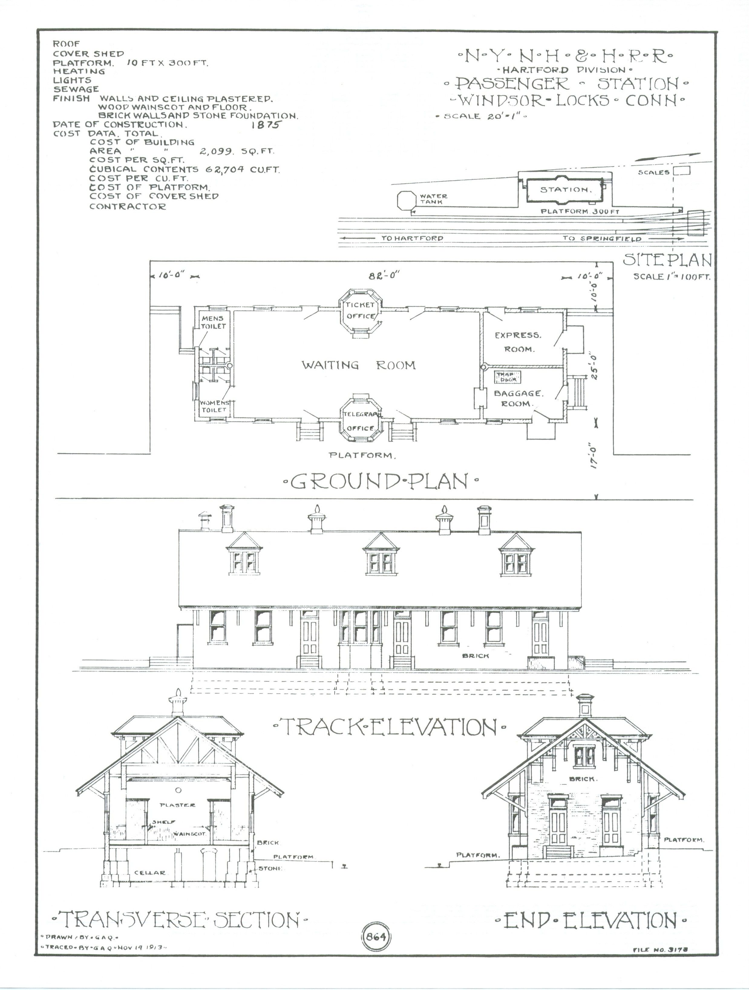 Train Depot Blueprints