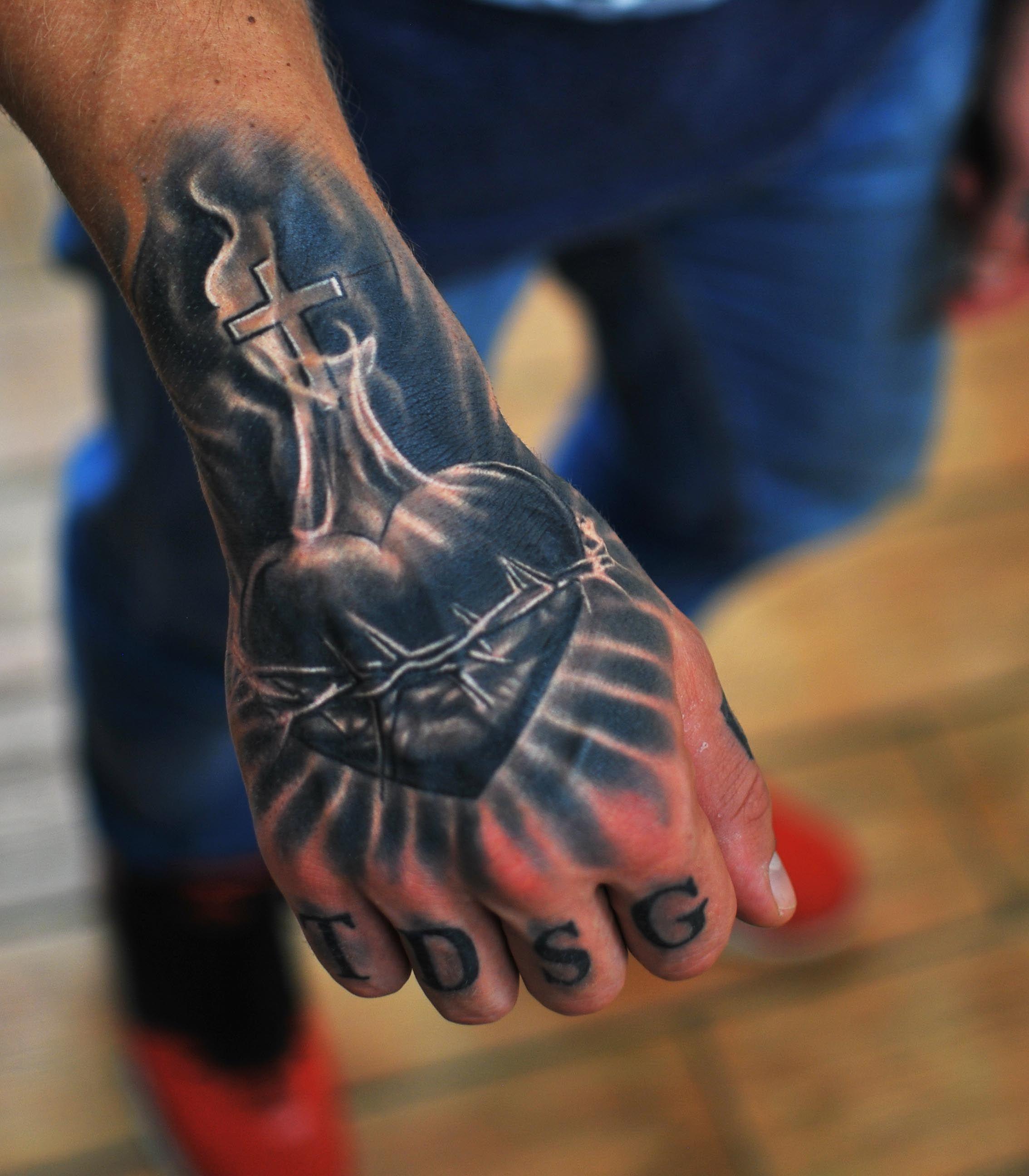 Completely healed heart tattoo. Artist marispavlo sacred