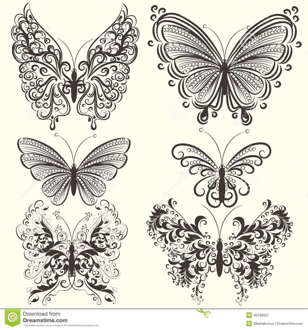 Clipart Filagree Butterfly