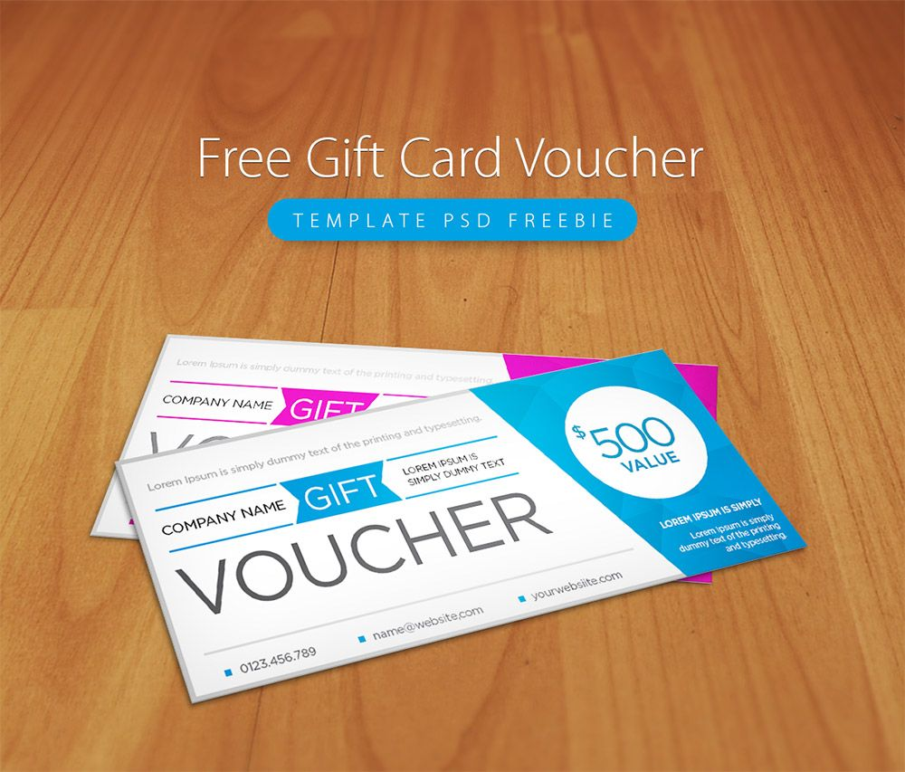 Awesome free gift card voucher template psd freebie