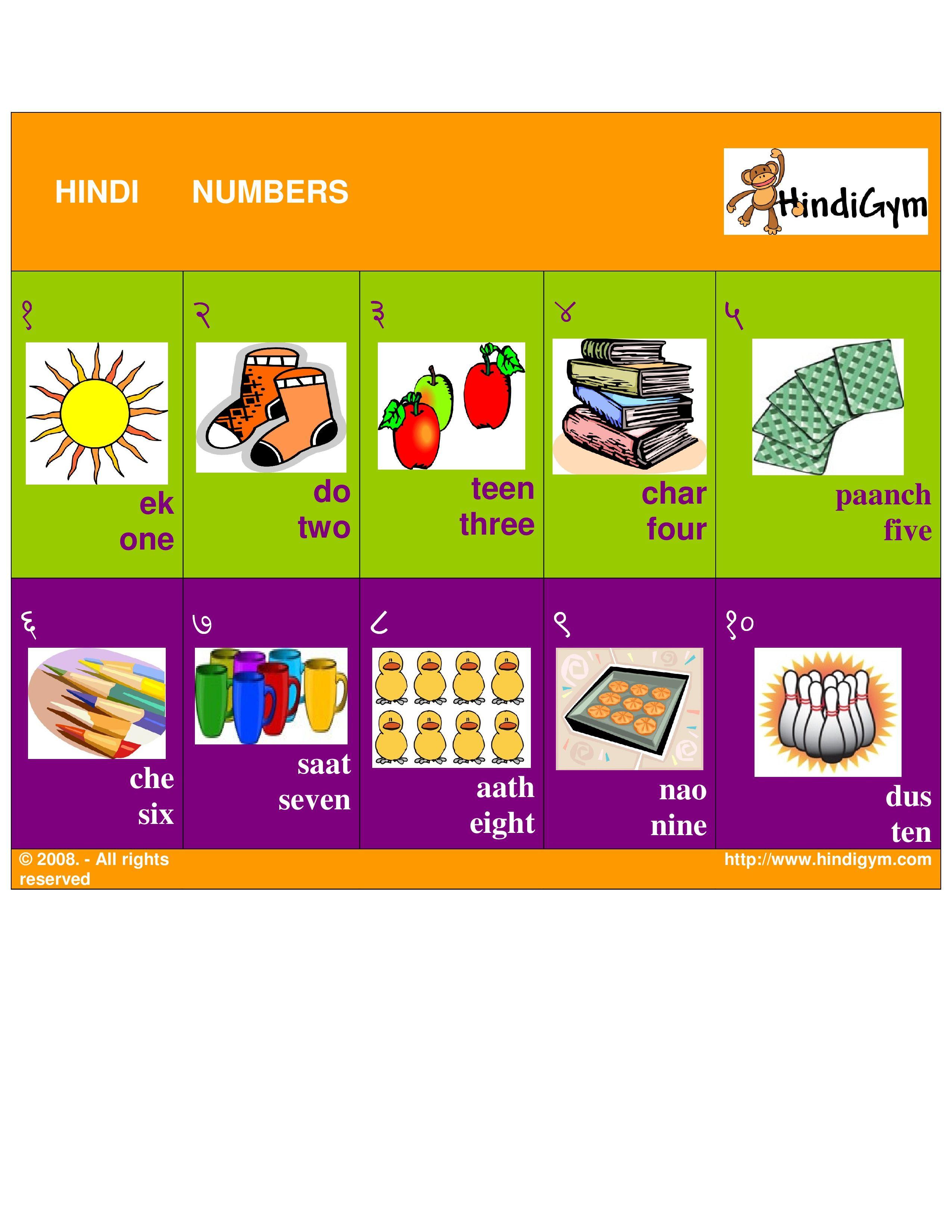 Hindi Number Chart Free Print At Home Ginti Ank