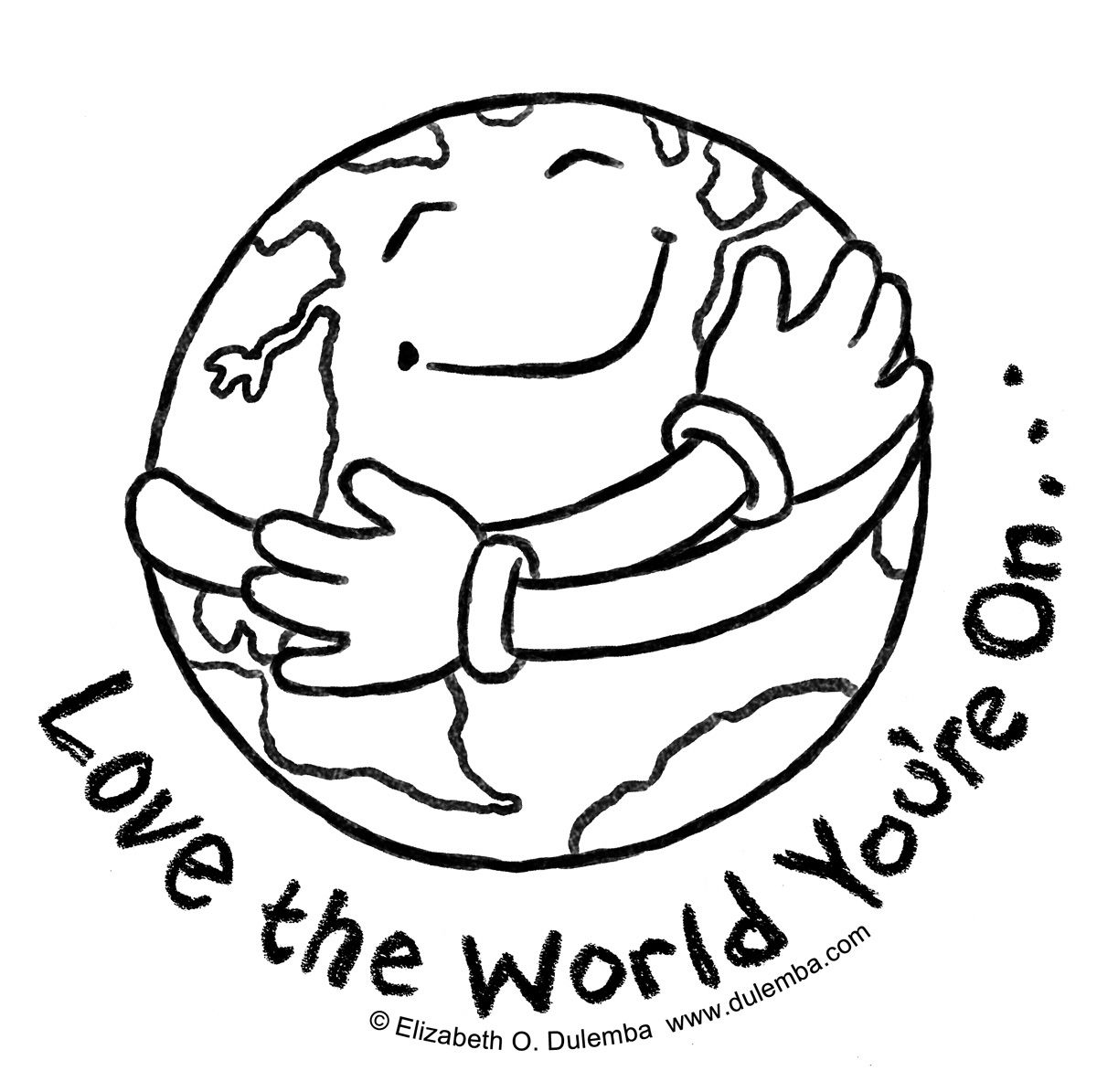 Earth Day Coloring Page