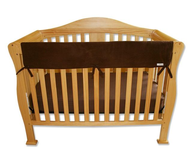 Trend Lab Solid Convertible Crib Rail Cover Brown