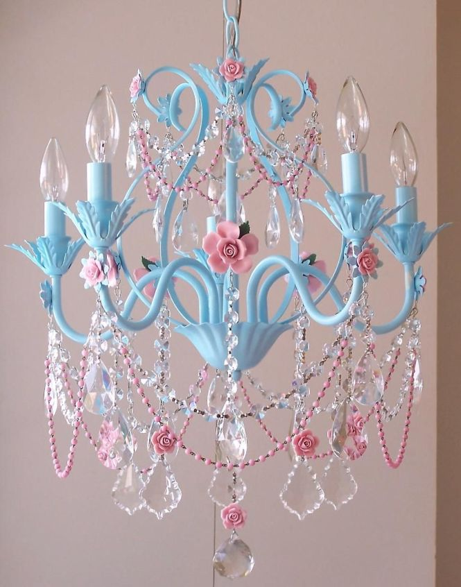Baby Blue Chandelier Would Be So Cute In A Little S Room All Princesses Need Fancy Chandeliers