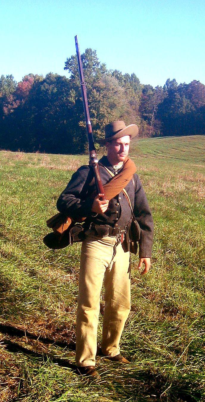 Skip Owens in a fantastic Civil War Confederate impression