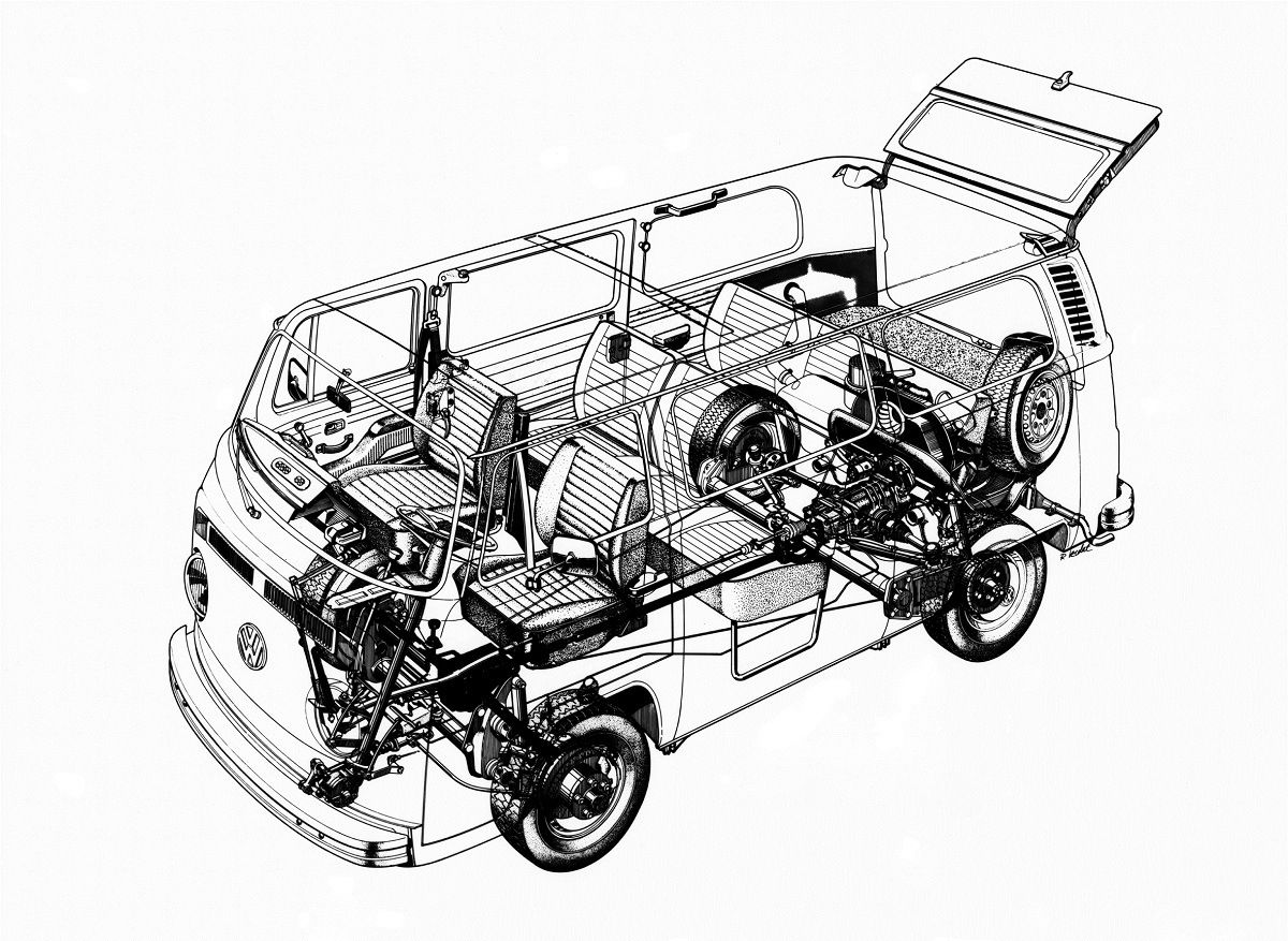 Volkswagen Bus 4wd Blueprint