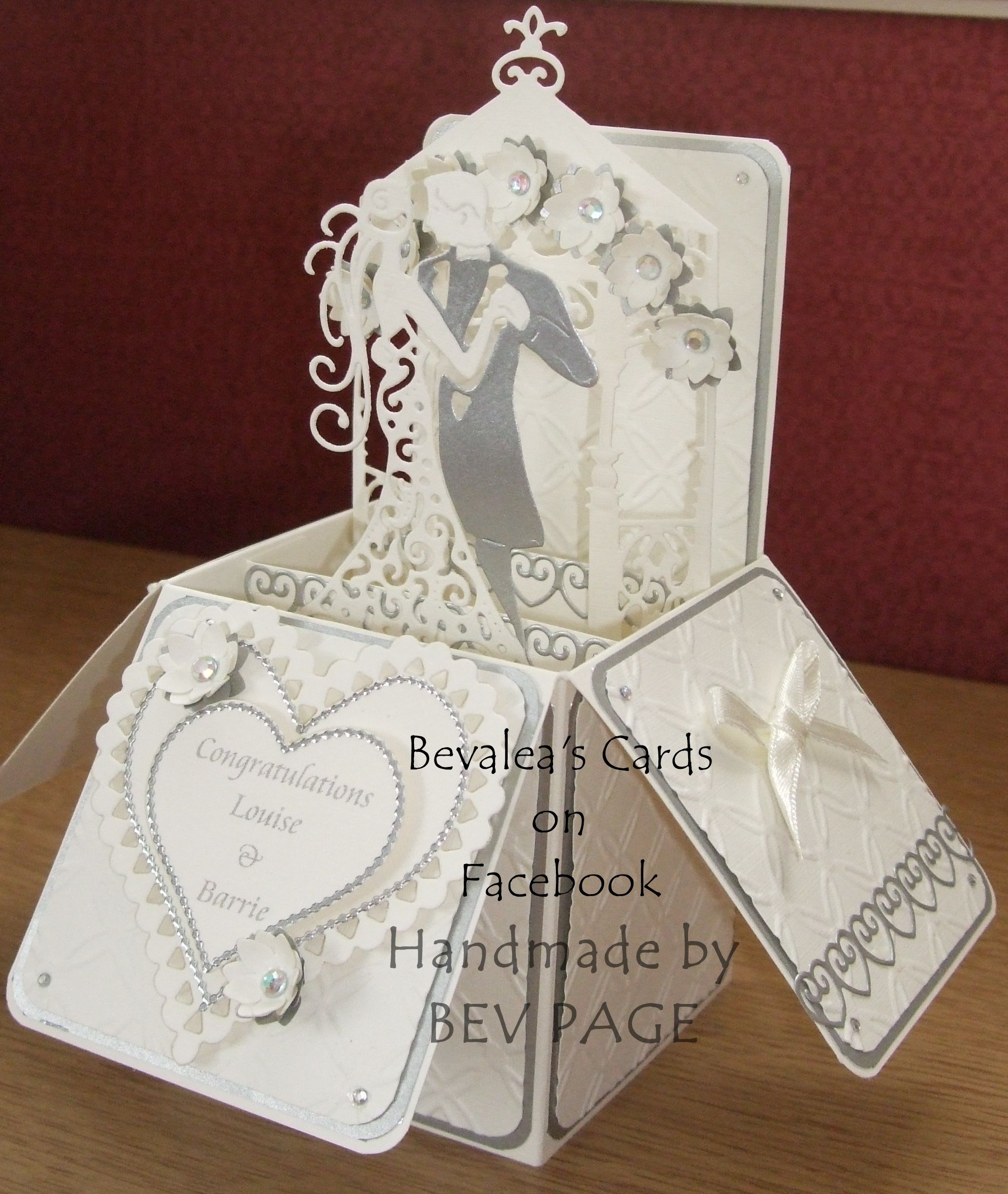 Wedding PopUp box using Spellbinders and Tattered Lace