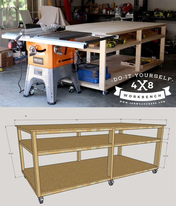 DIY Workbench Diy workbench, Garage organization and