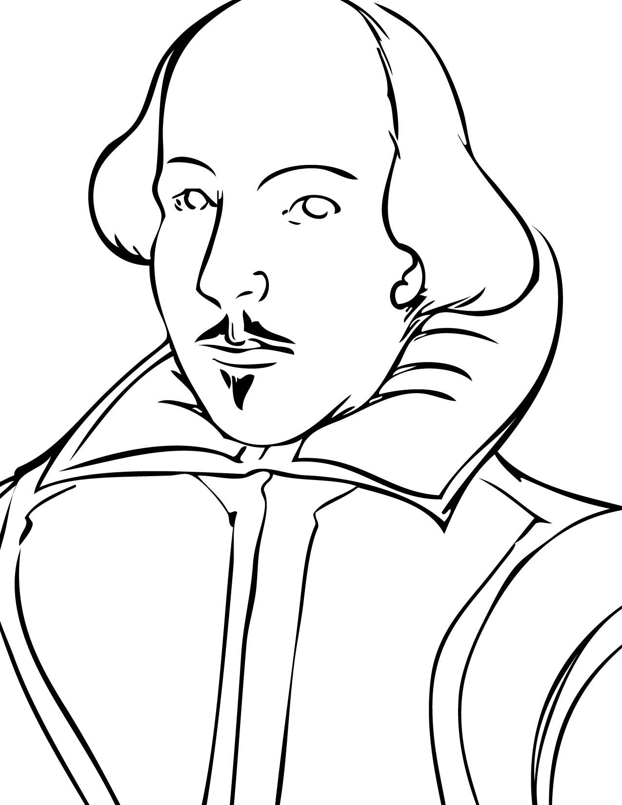Good Coloring Page Of Shakespeare S Face If You Have To