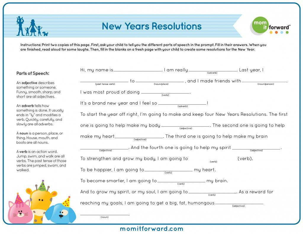 For Growing A Purposeful Family Dvd Meeting New Year S Resolutions Mad Libs For Kids