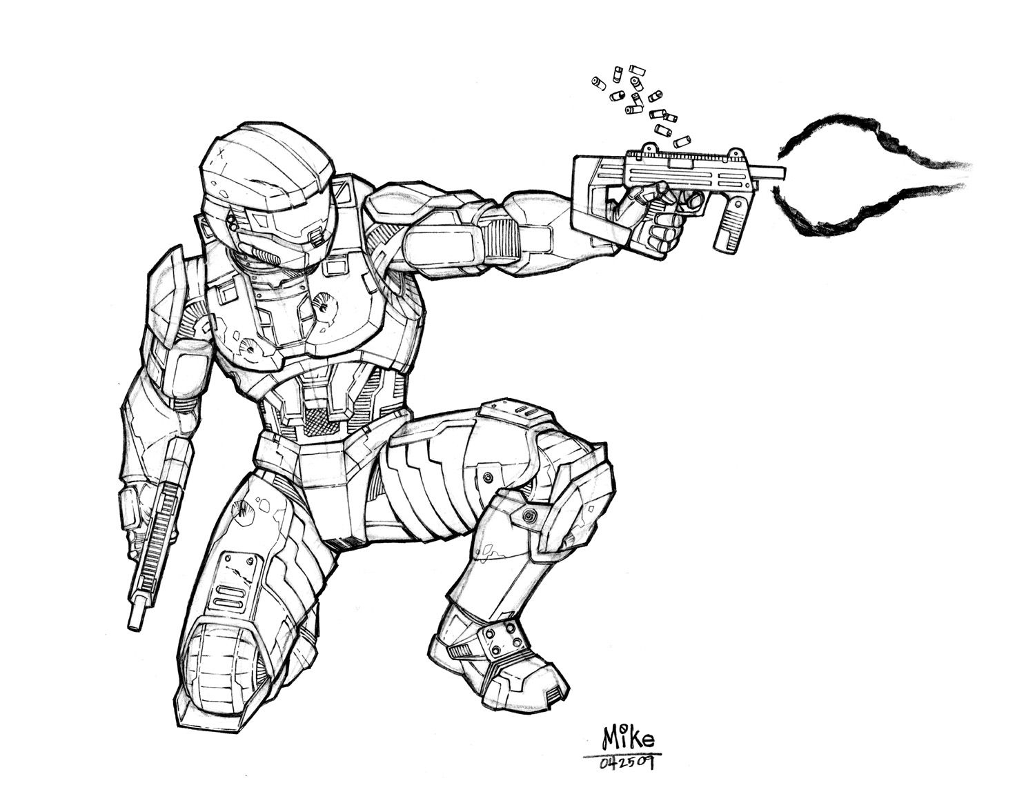 Master Chief By The Other Mike 1 500 1 164 Pixels
