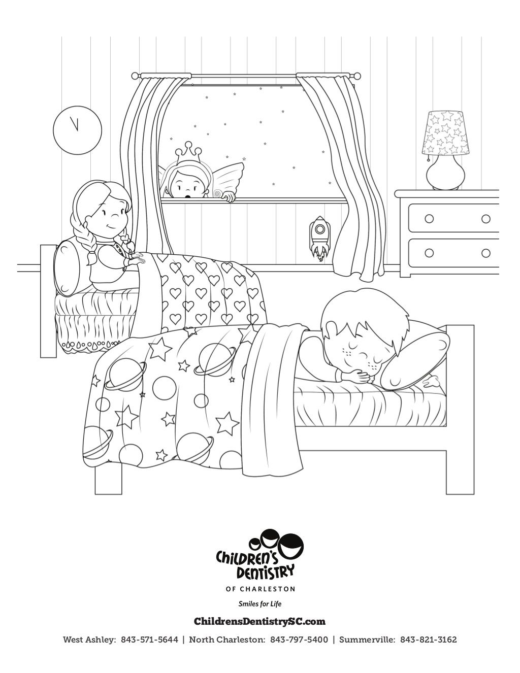 Free Toothfairy Coloring Sheet By Children S Dentistry Of Charleston Freecoloringsheet