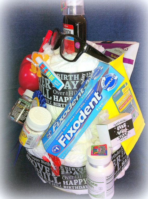 Over The Hill Diaper Cake For Birthday Or Retirement 45