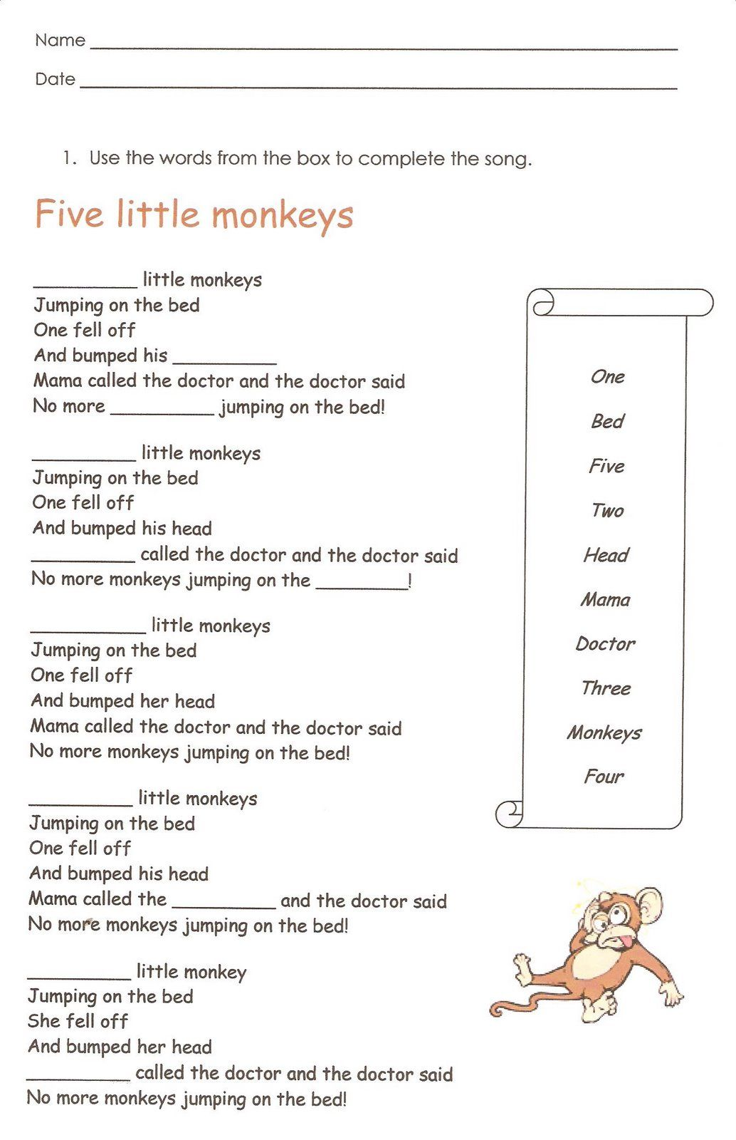 7 Math In English Worksheets For Grade 5