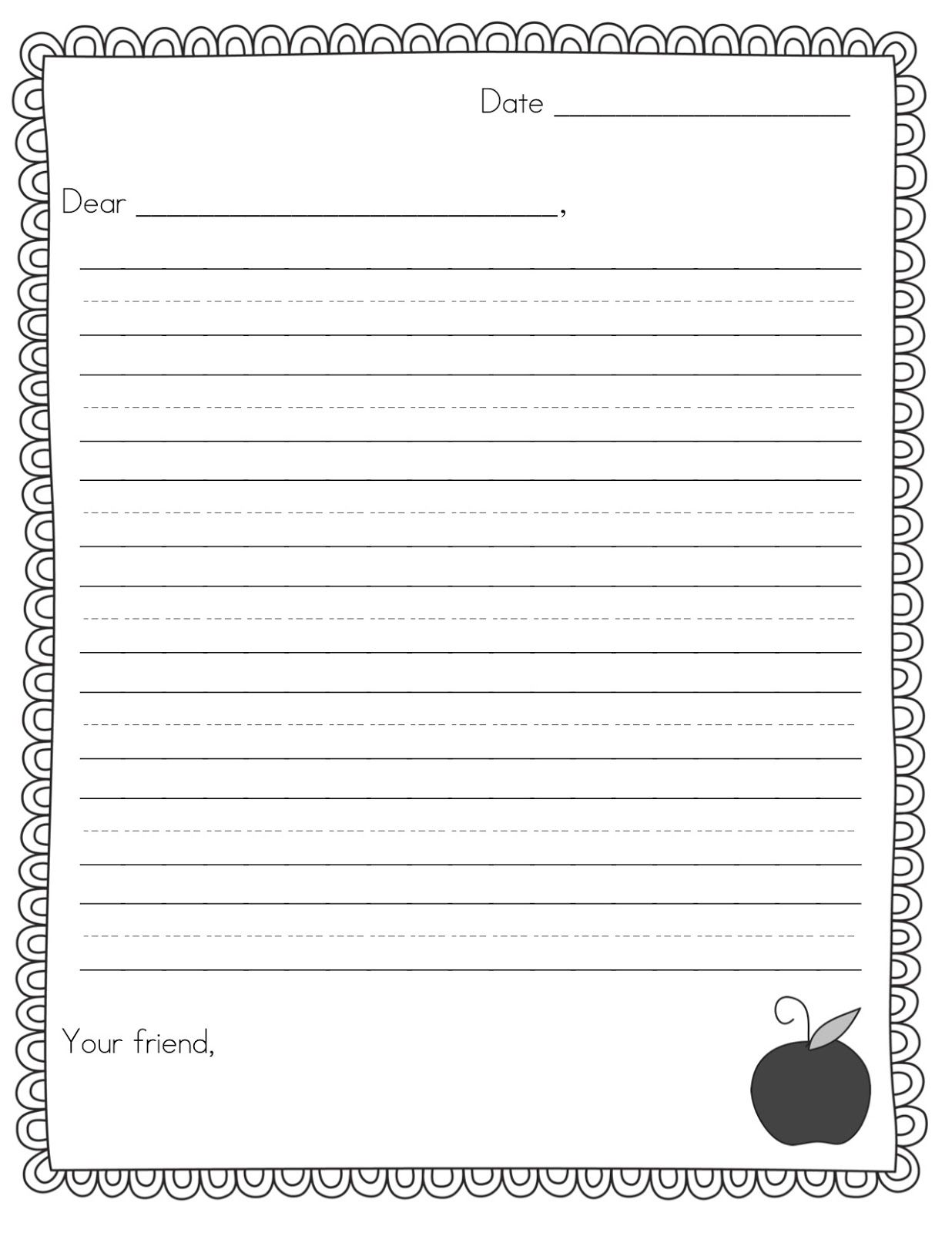 Teacher Idea Factory Pen Pal News Friendly Letter