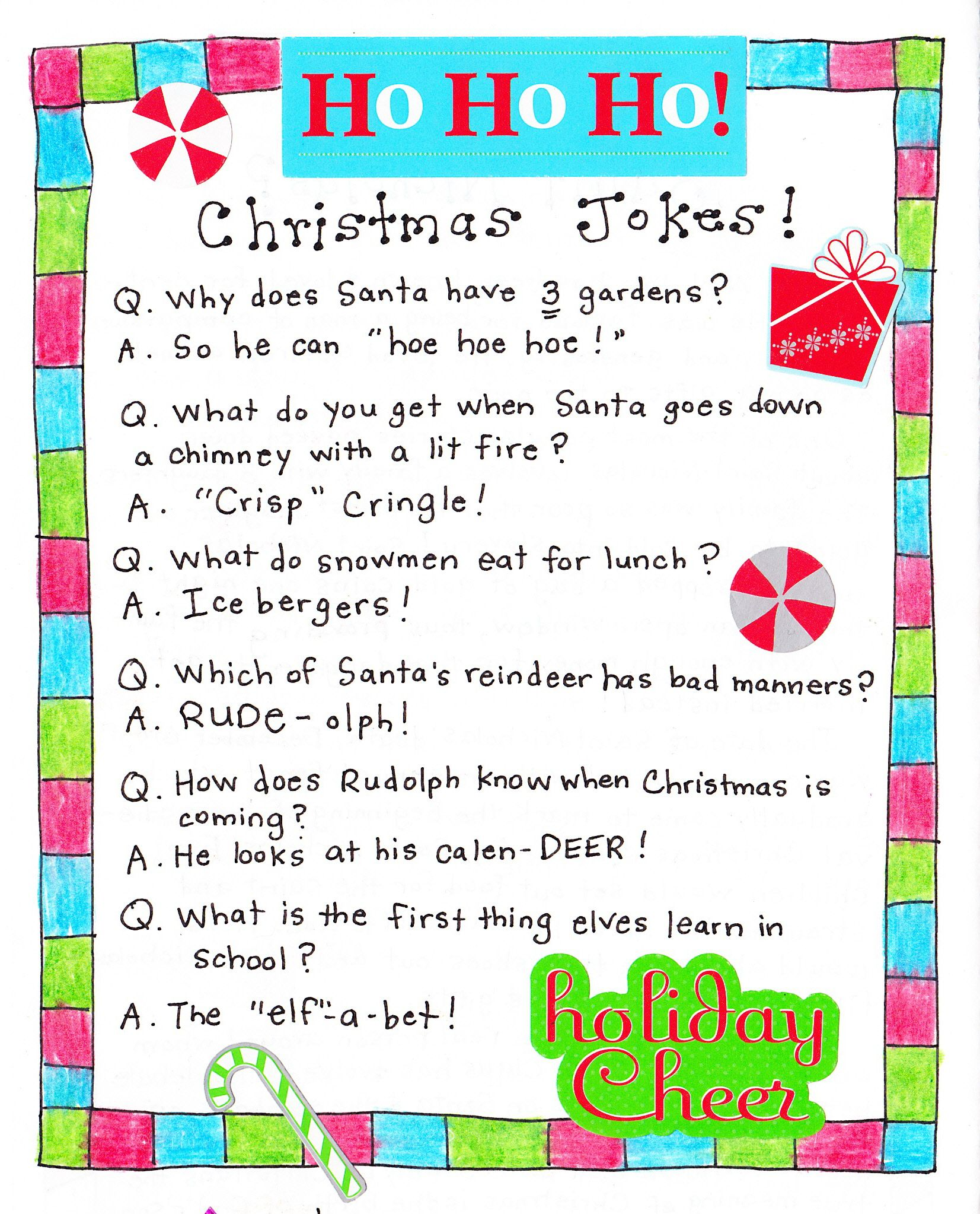 Christmas Jokes (cute for Kids!) Just for Fun