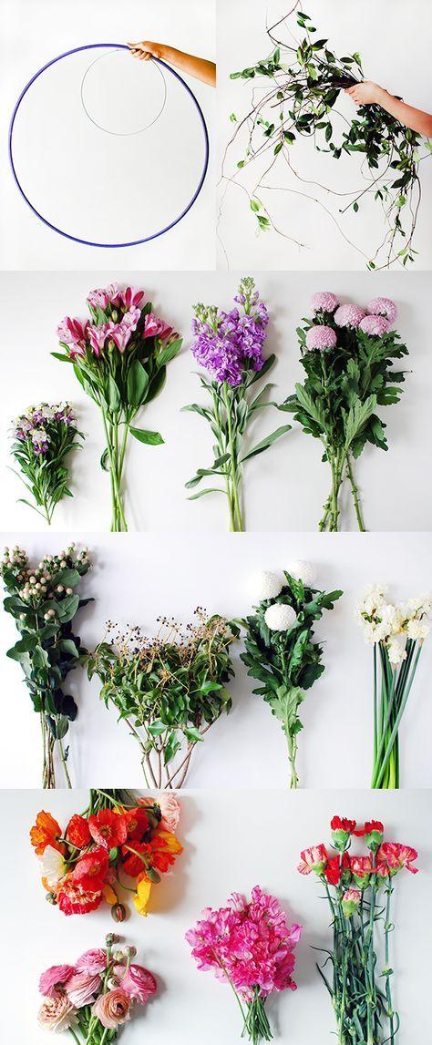 Materials To Make A Diy Fresh Flower Hanging Chandelier Photo Lisa Tilse For We