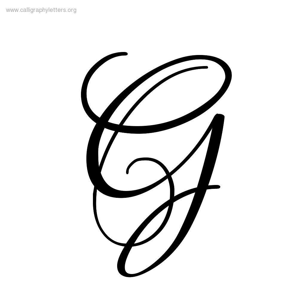 Cursive Letter G