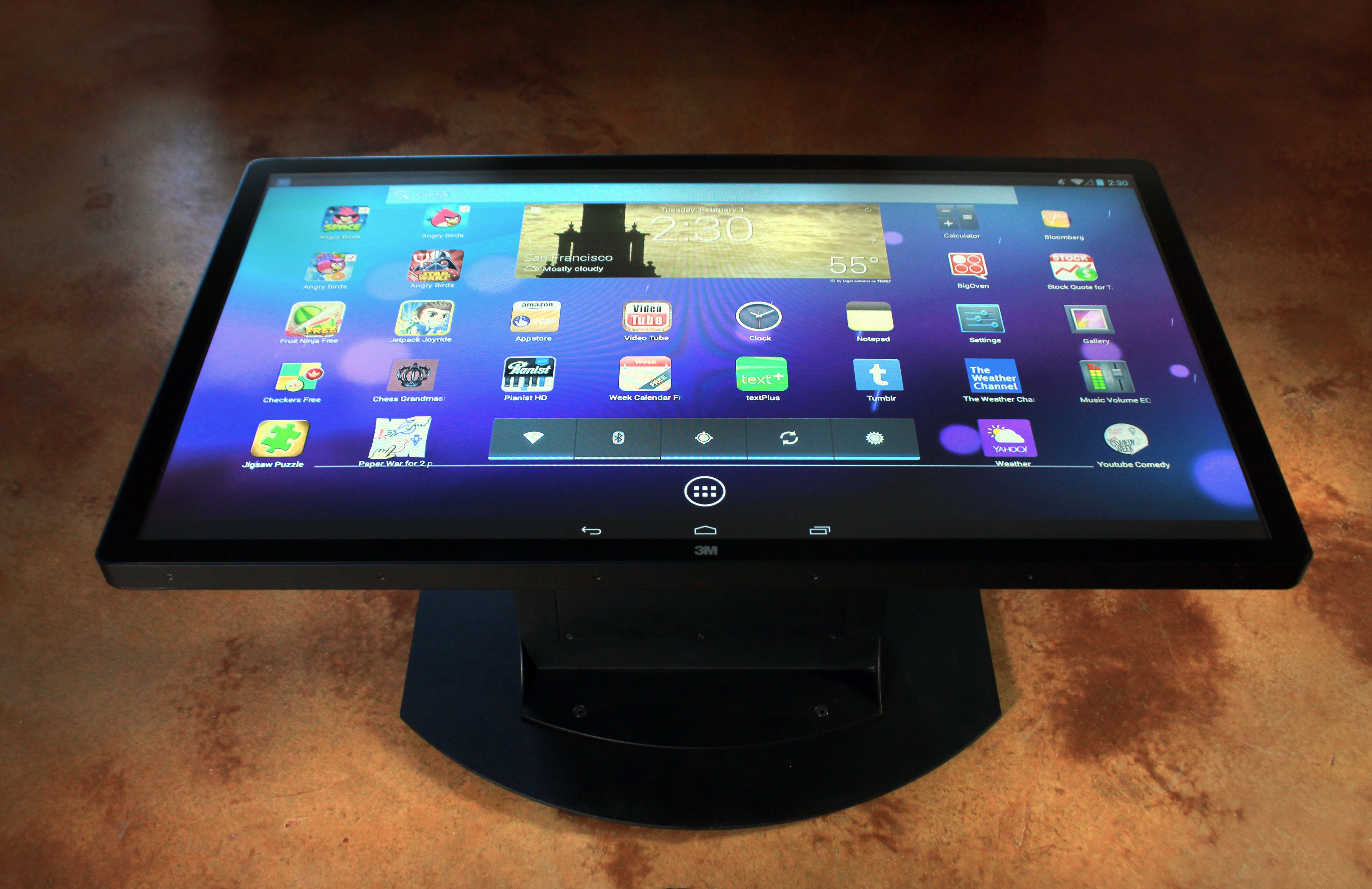 Android Apps on the Ideum Multitouch Coffee Table. From