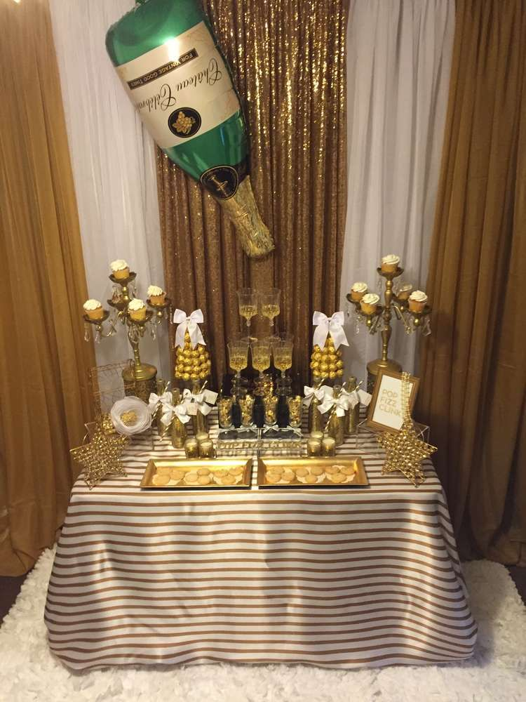Birthday Party Ideas Champagne party, Backdrops and