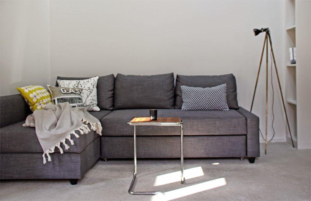 Friheten Corner Sofa Bed Cover Snug Fit Dark Grey