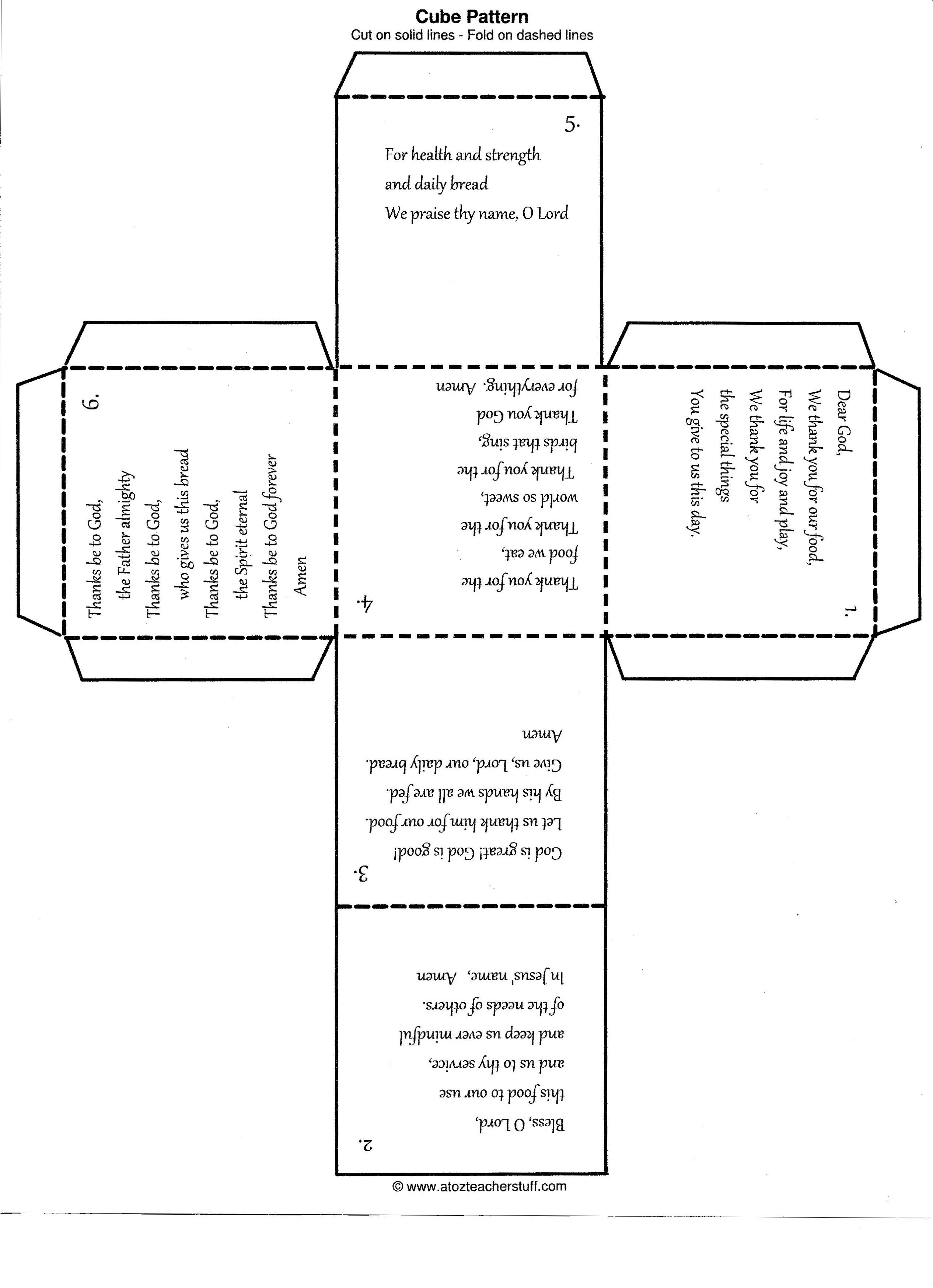 The Pattern For The Prayer Cube