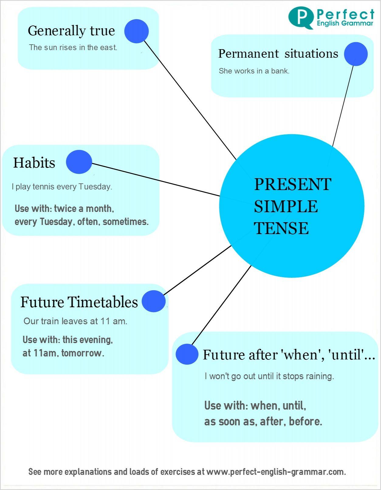 English Grammar Infographics Present Simple Tense