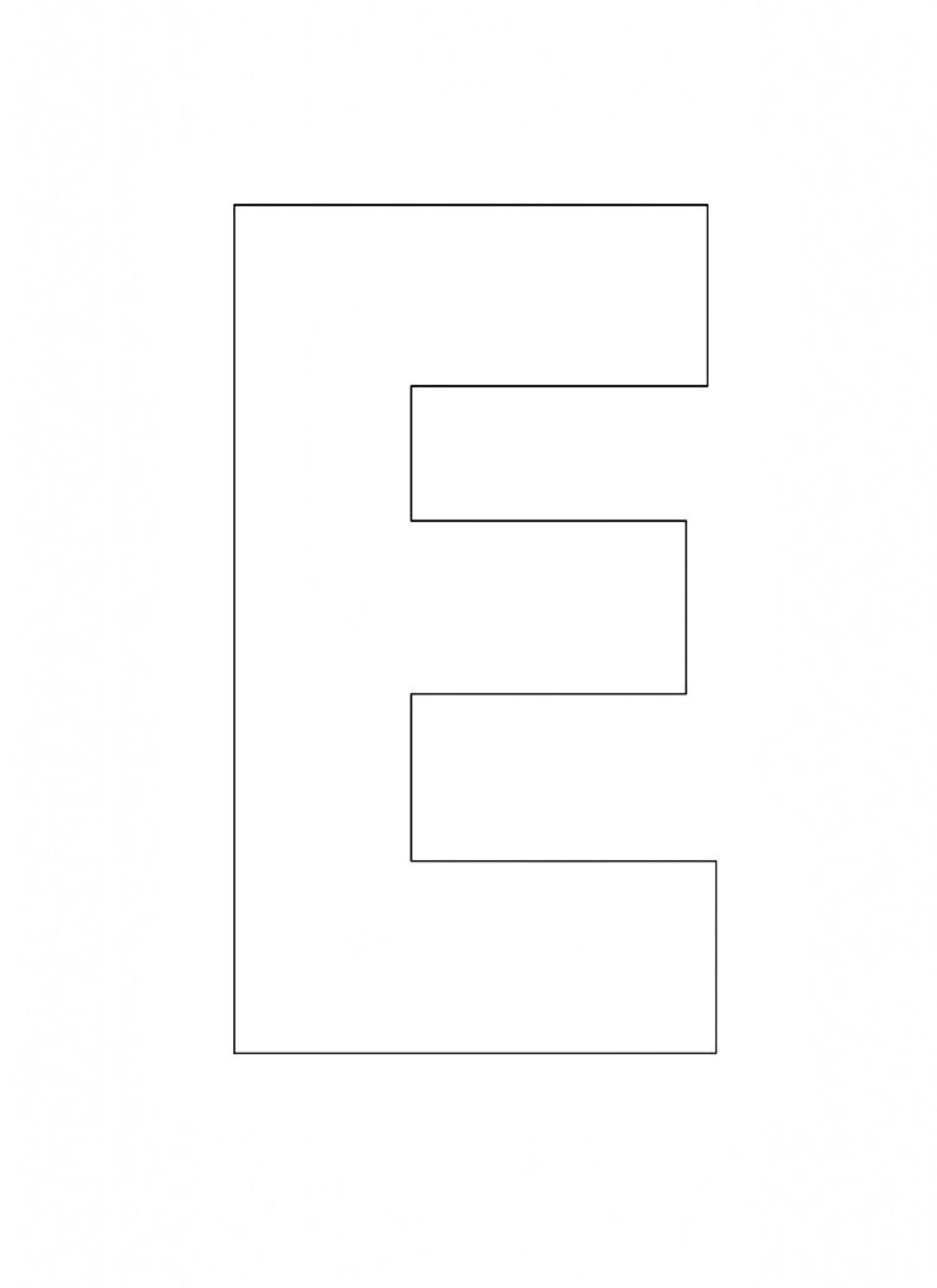 Alphabet Letter E Template For Kids