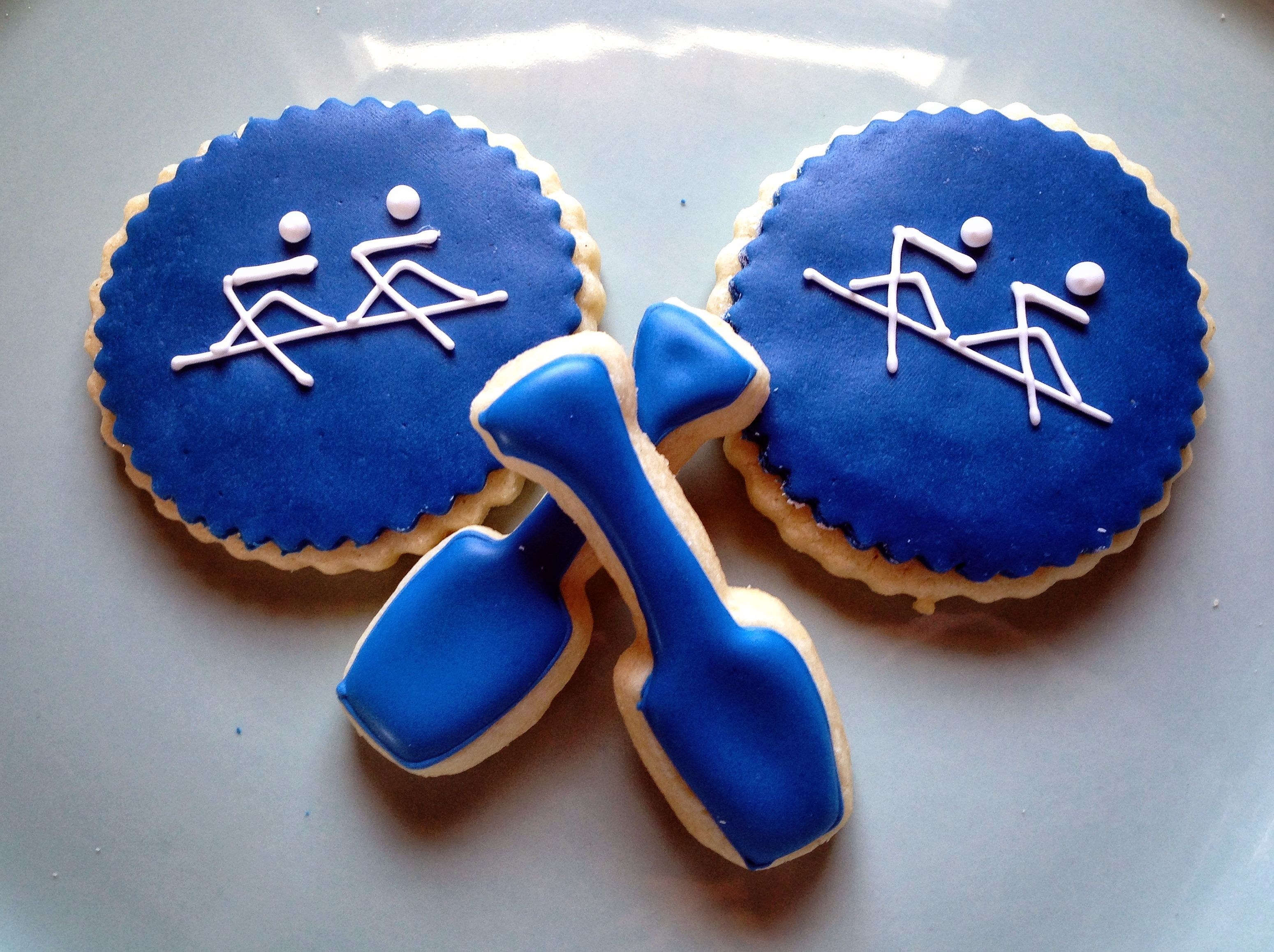 Rowing Men Oarsmen And Paddle Oars Cookies Go Perfectly
