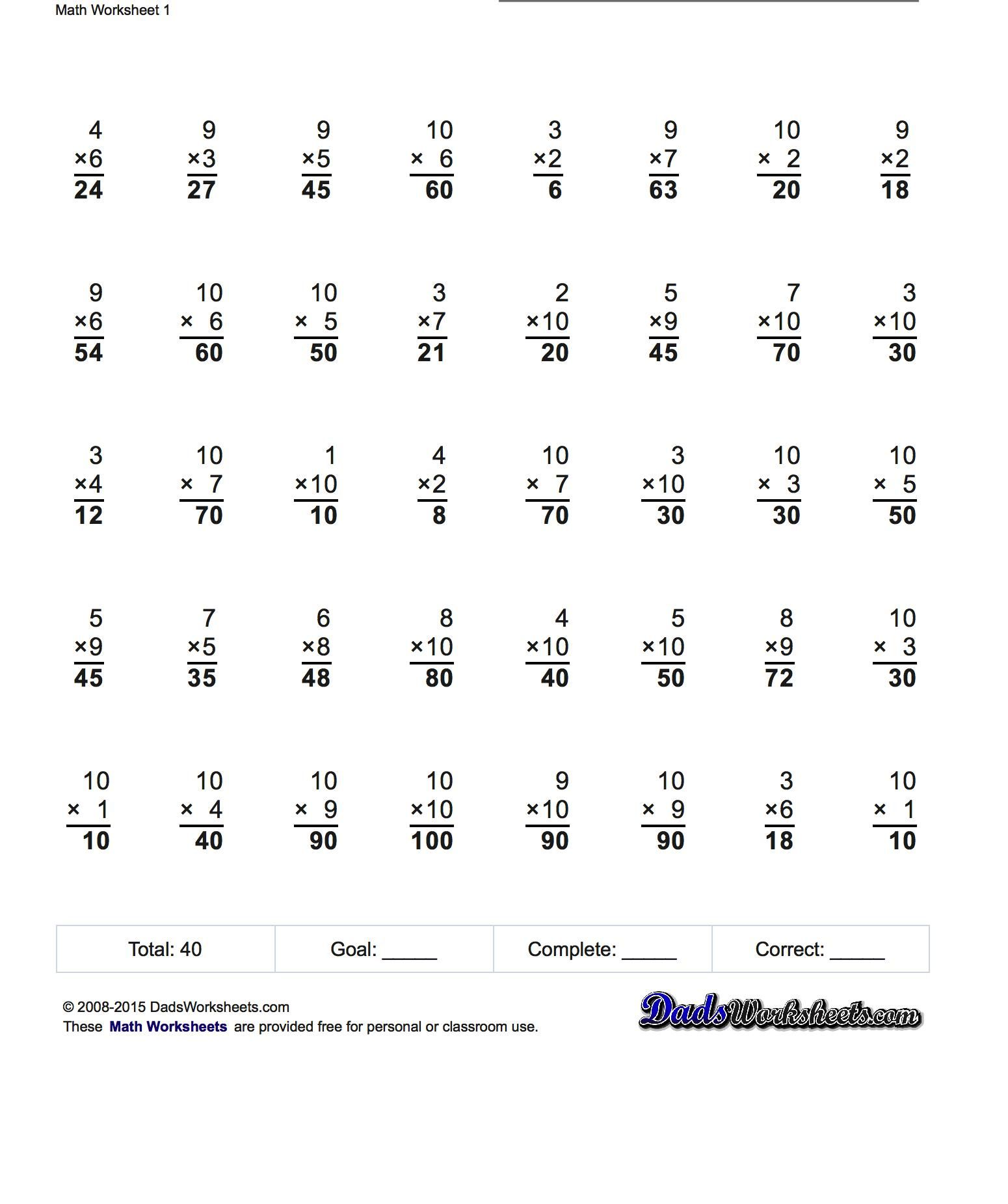Visual Multiplication Worksheet X 2