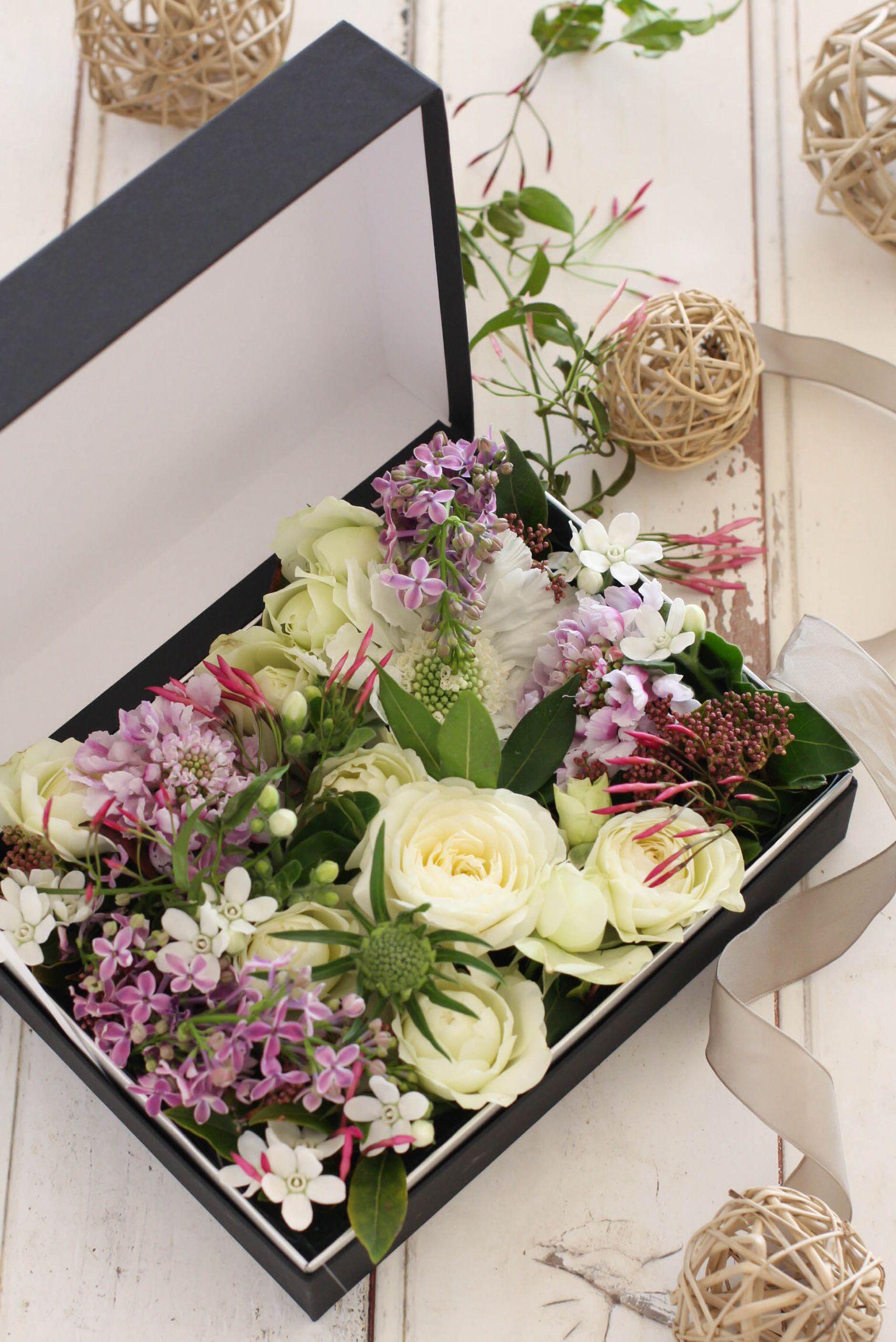 Box flower arrangement for you . цветы в коробочках