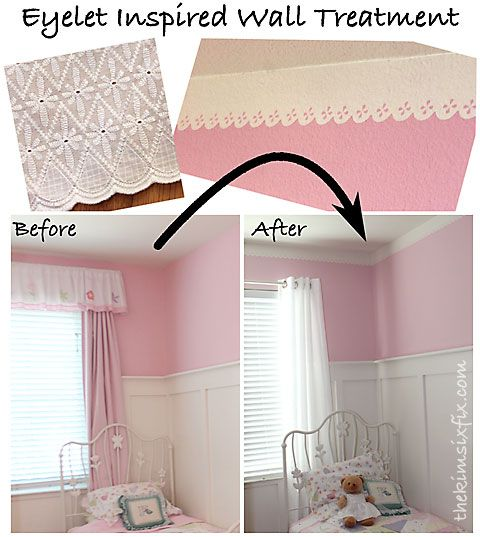 lace eyelet inspired ceiling border | ceilings, shapes and easy