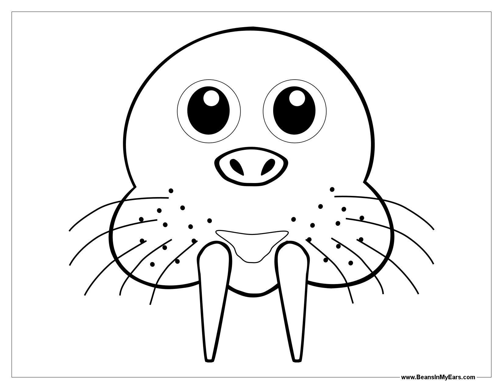 Walrus Mask Template