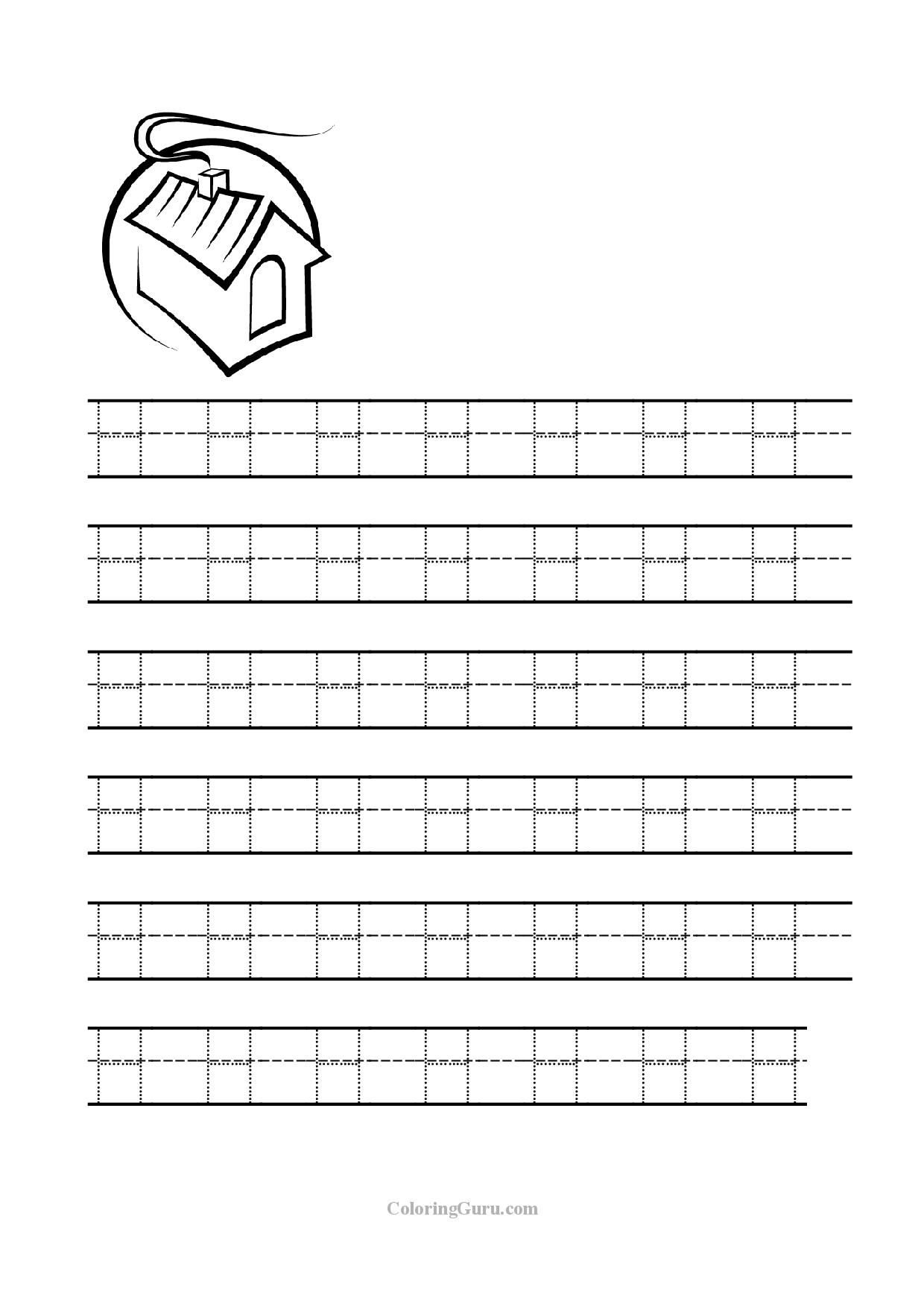 Free Printable Tracing Letter H Worksheets For Preschool