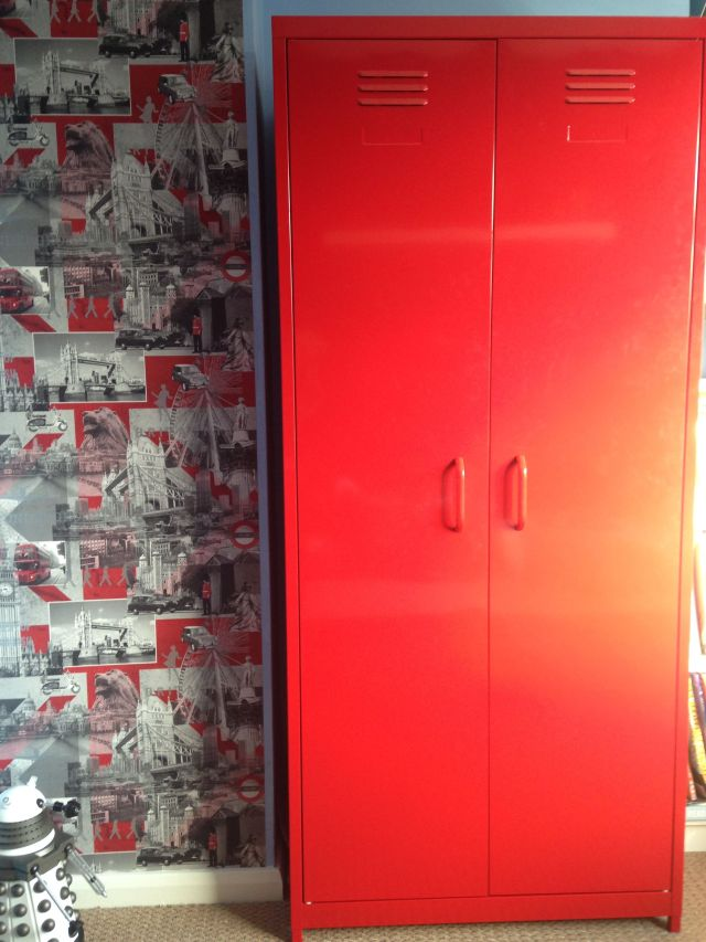 Red locker wardrobe from next Katie