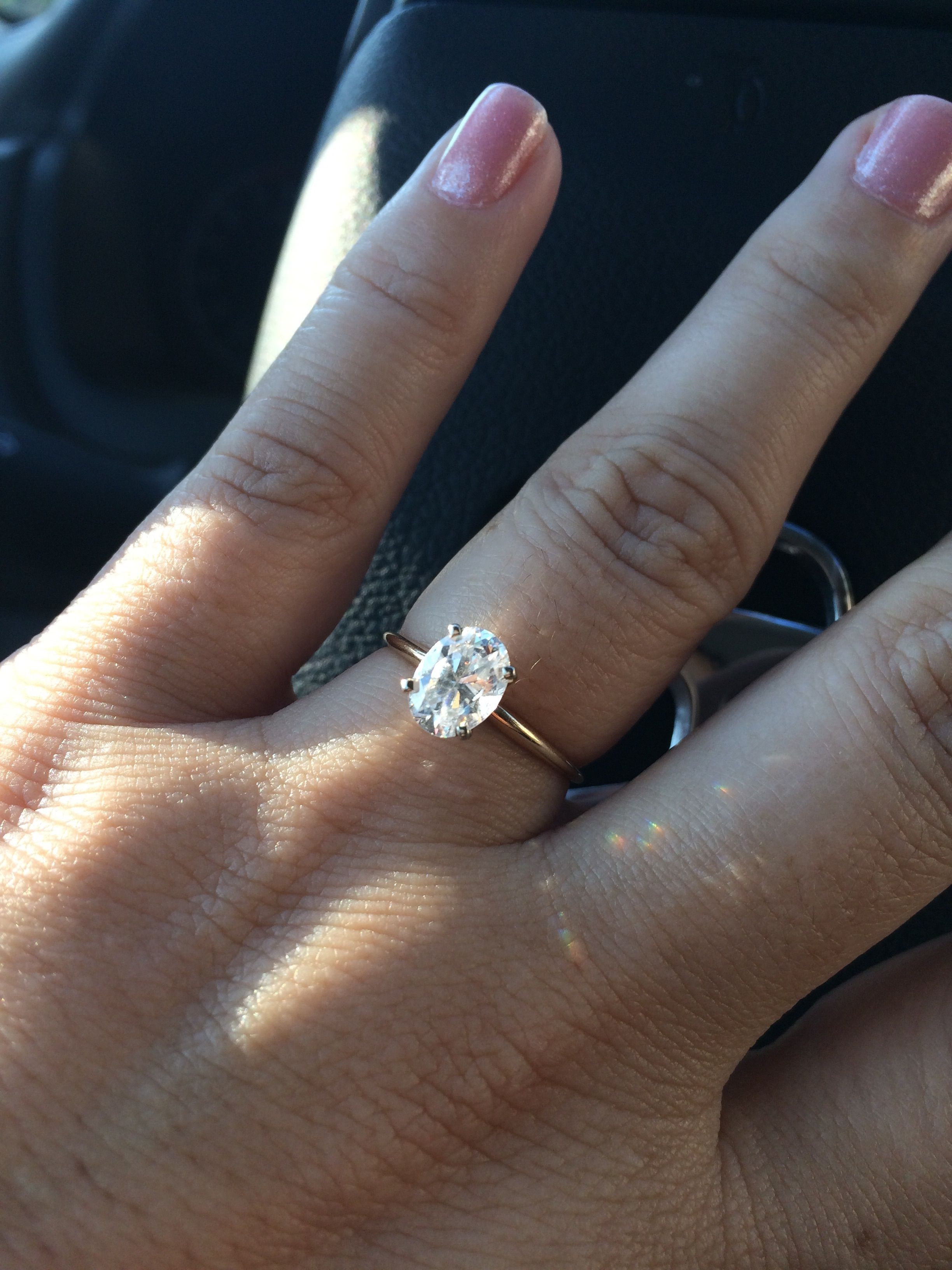 How Perfect Of A Ring Simple Solitaire OVAL Diamond With